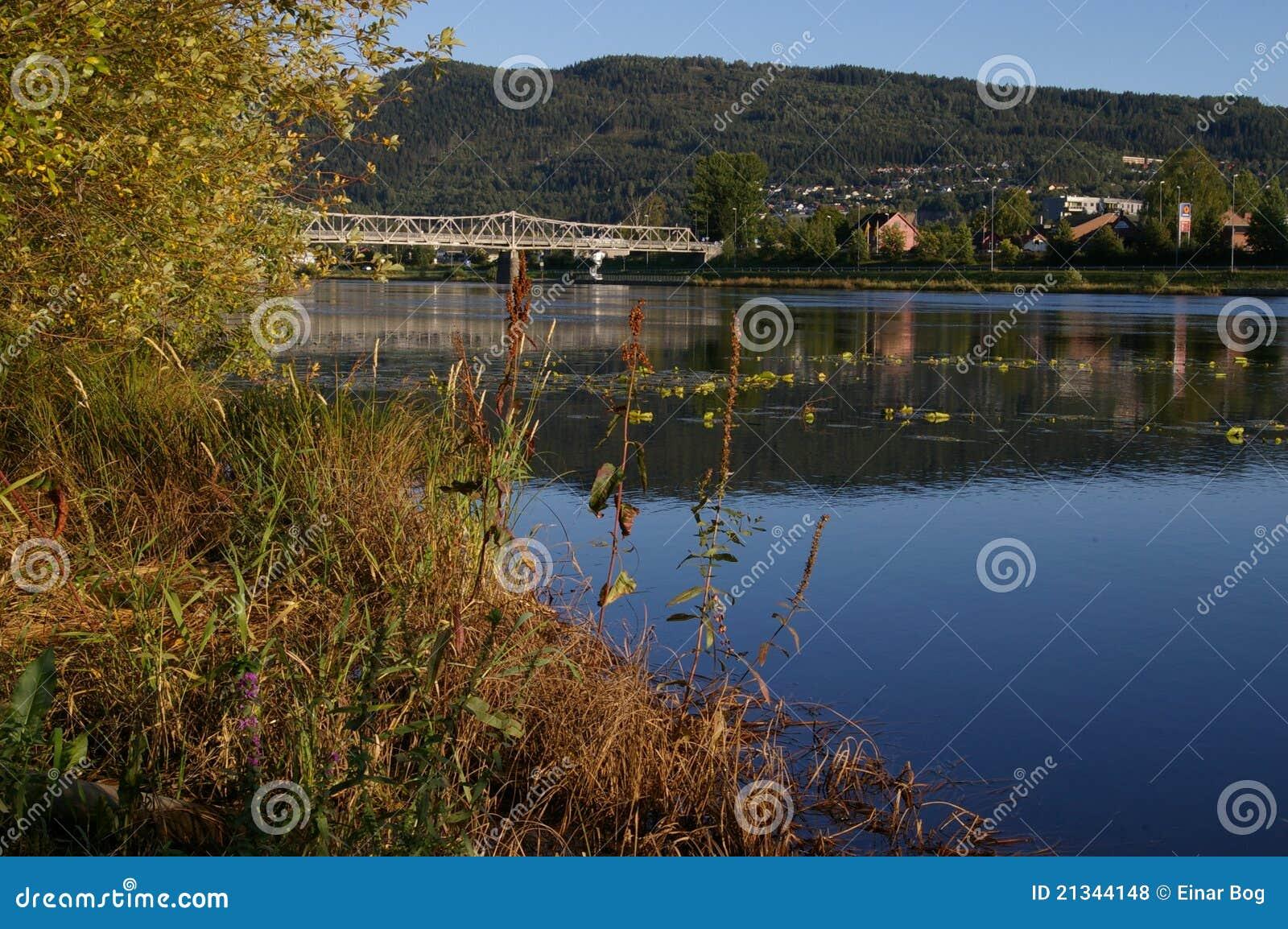 De Rivier Noorwegen van Drammens