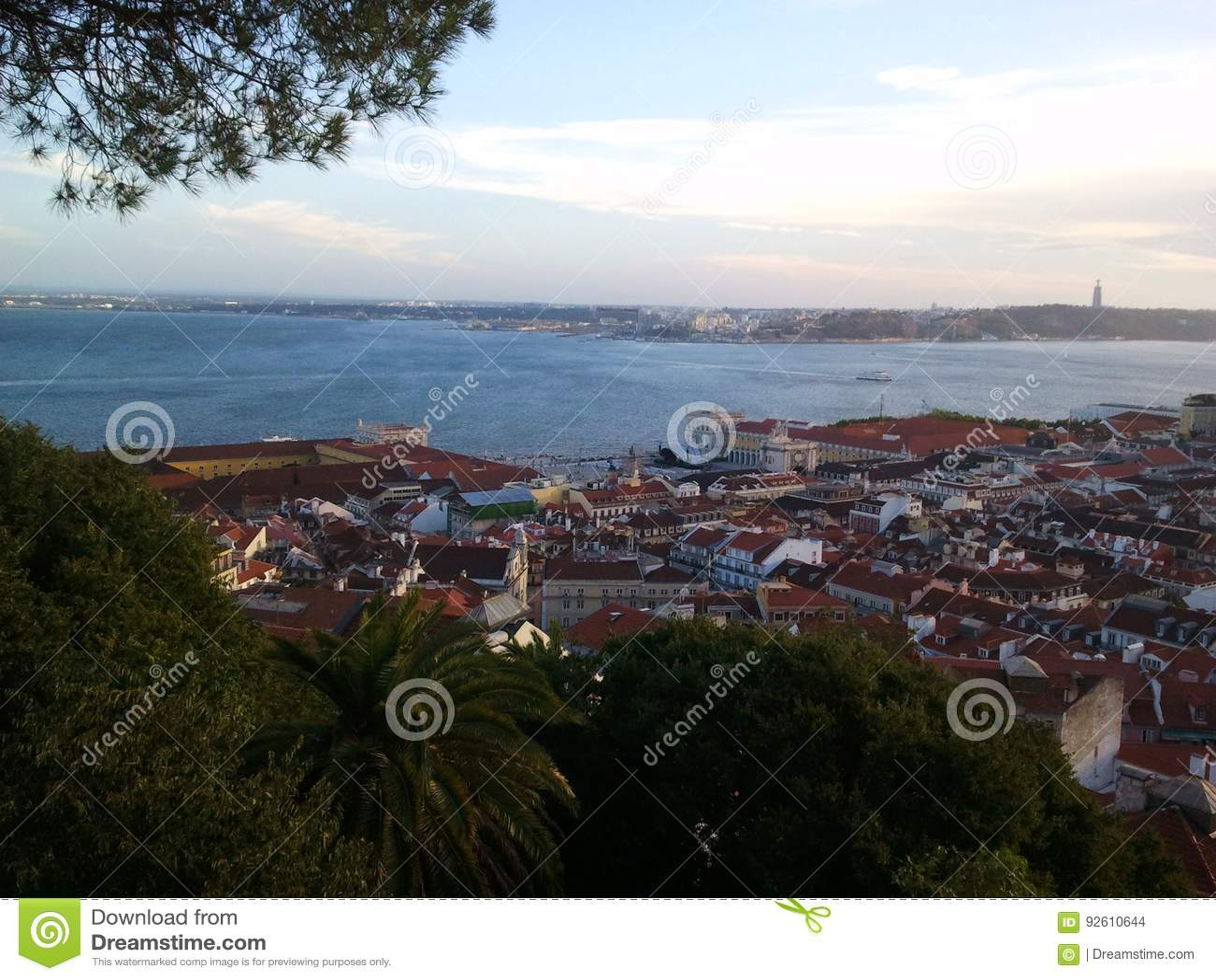 De rivier van Lissabon