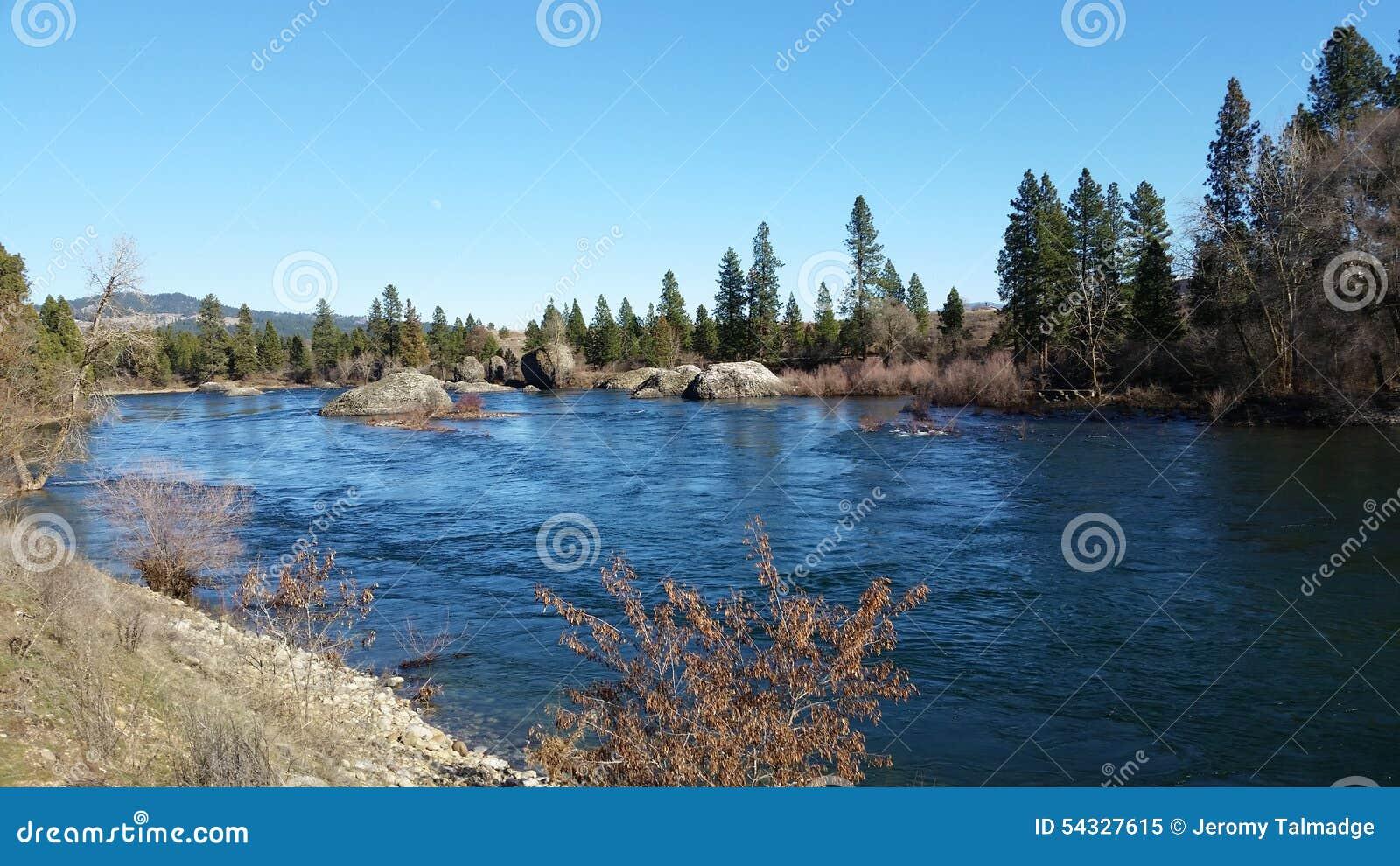 De rivier van Spokane
