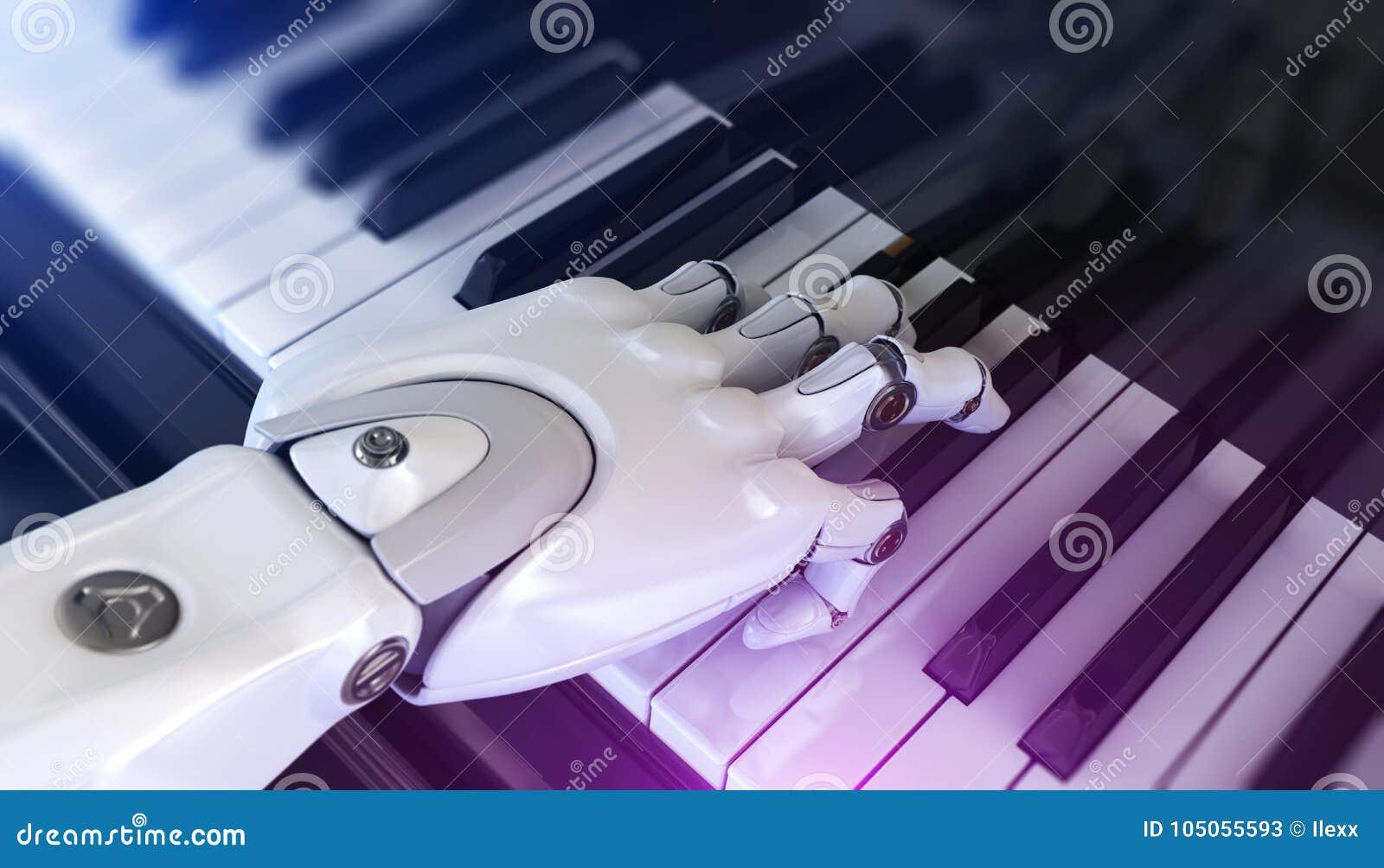 De robot speelt de piano