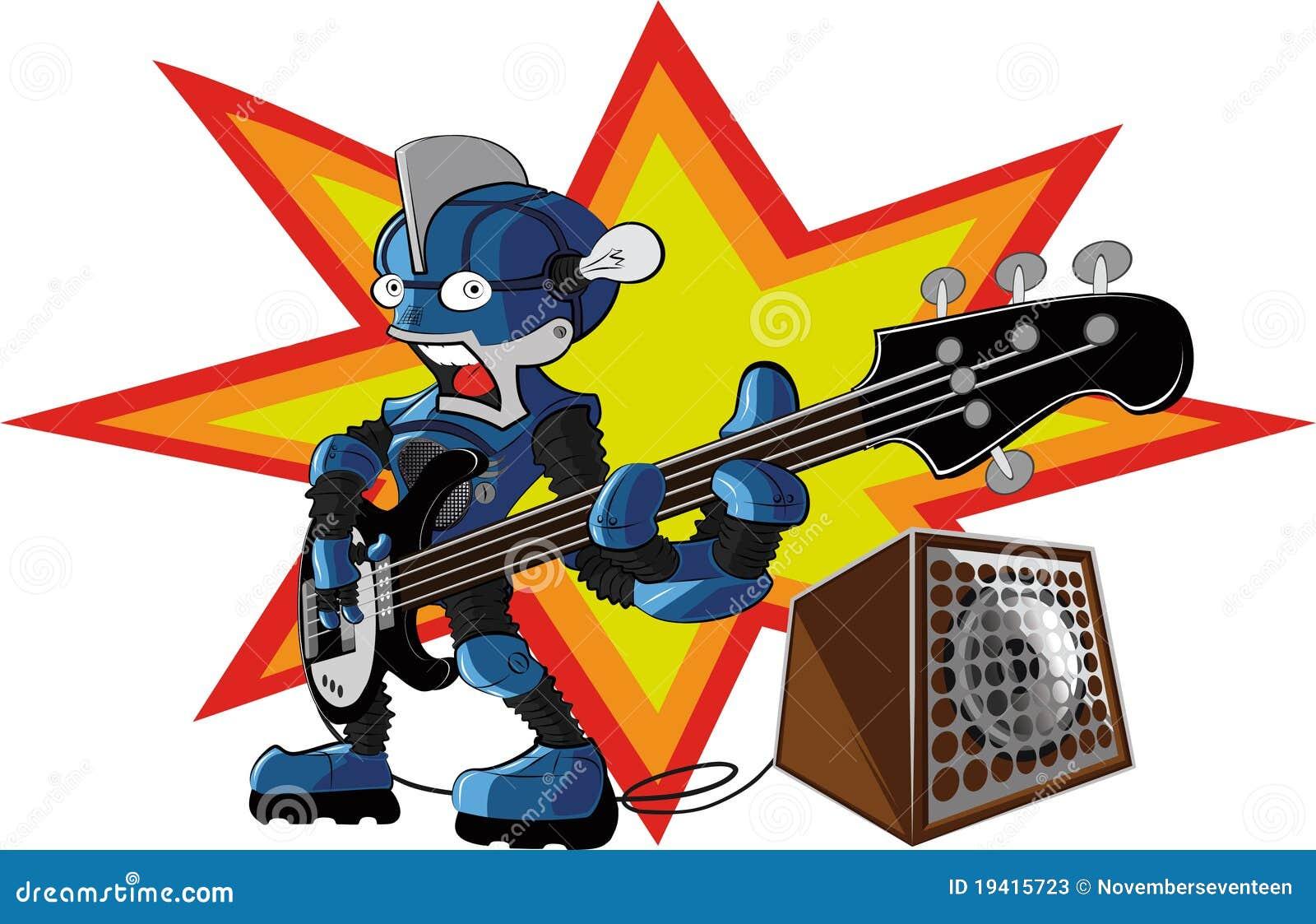 De robot van de bassist