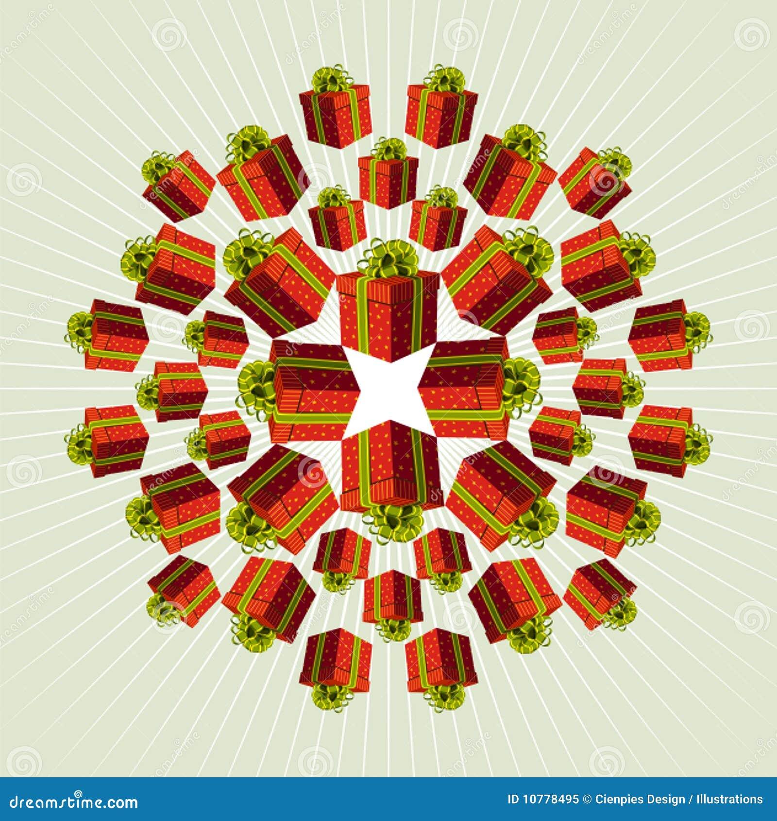De rode Achtergrond van de Gift Mandala