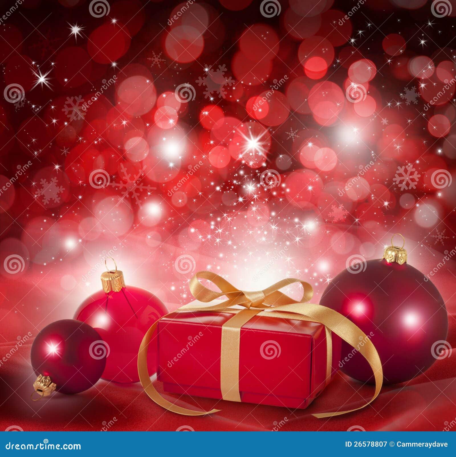 De rode Achtergrond van de Scène van Kerstmis