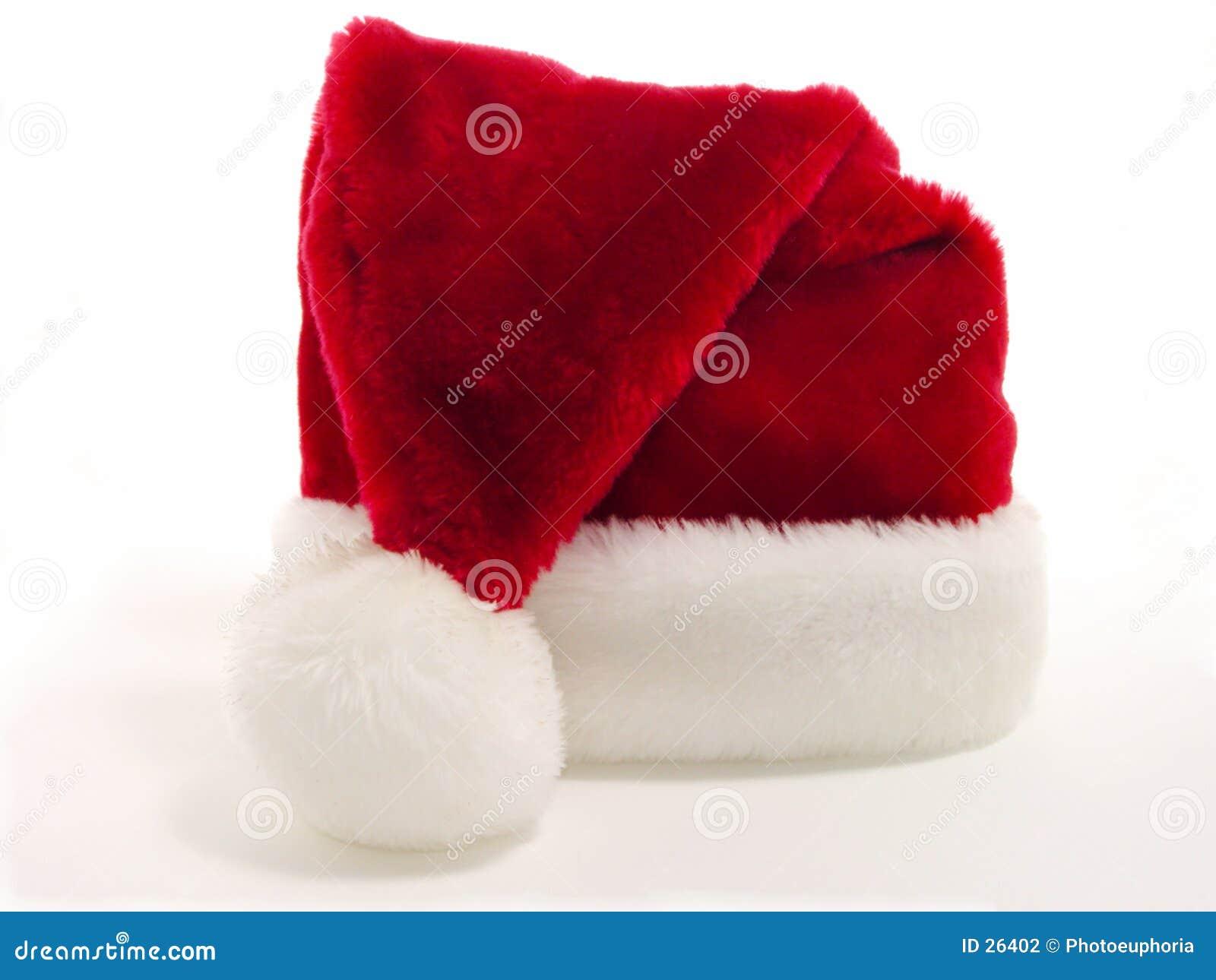De rode & Witte Hoed van de Kerstman