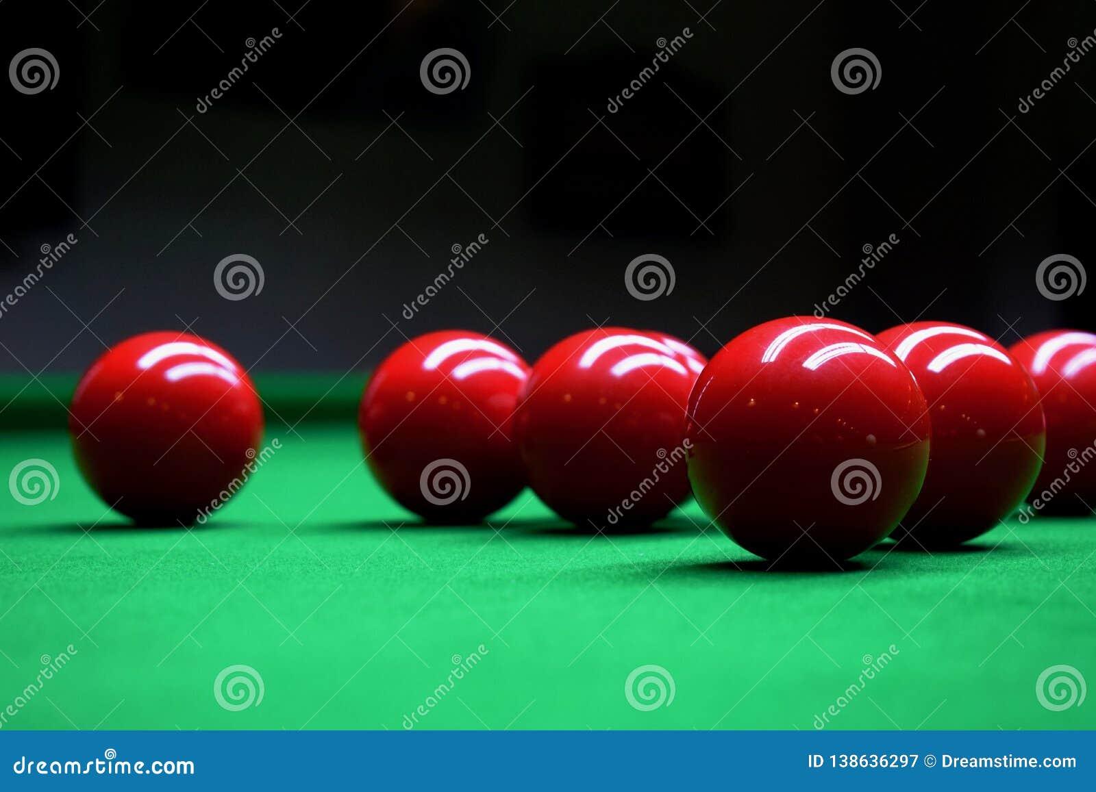 De Rode Ballen van snookerbillard