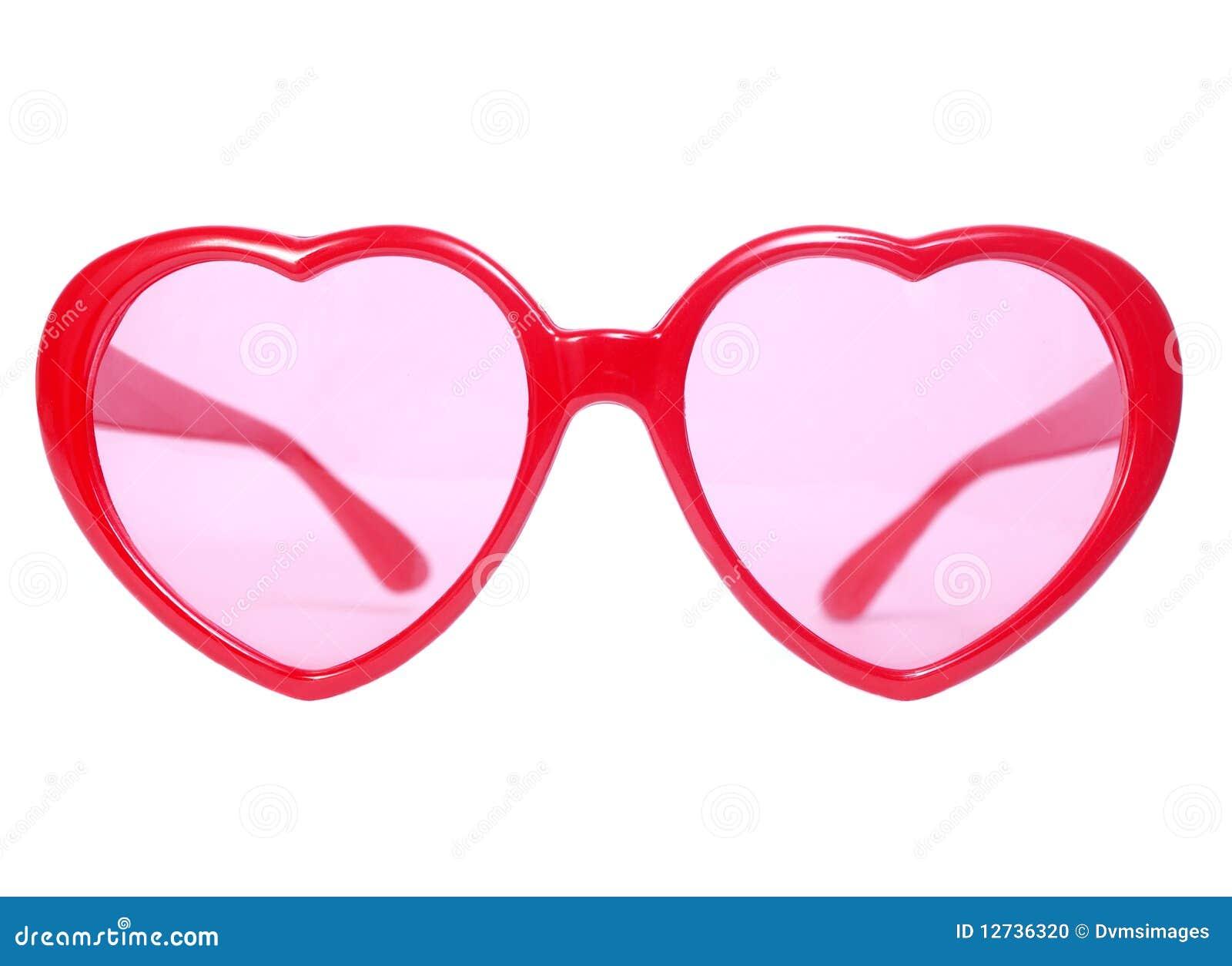 de rode bril het hart stock foto afbeelding bestaande