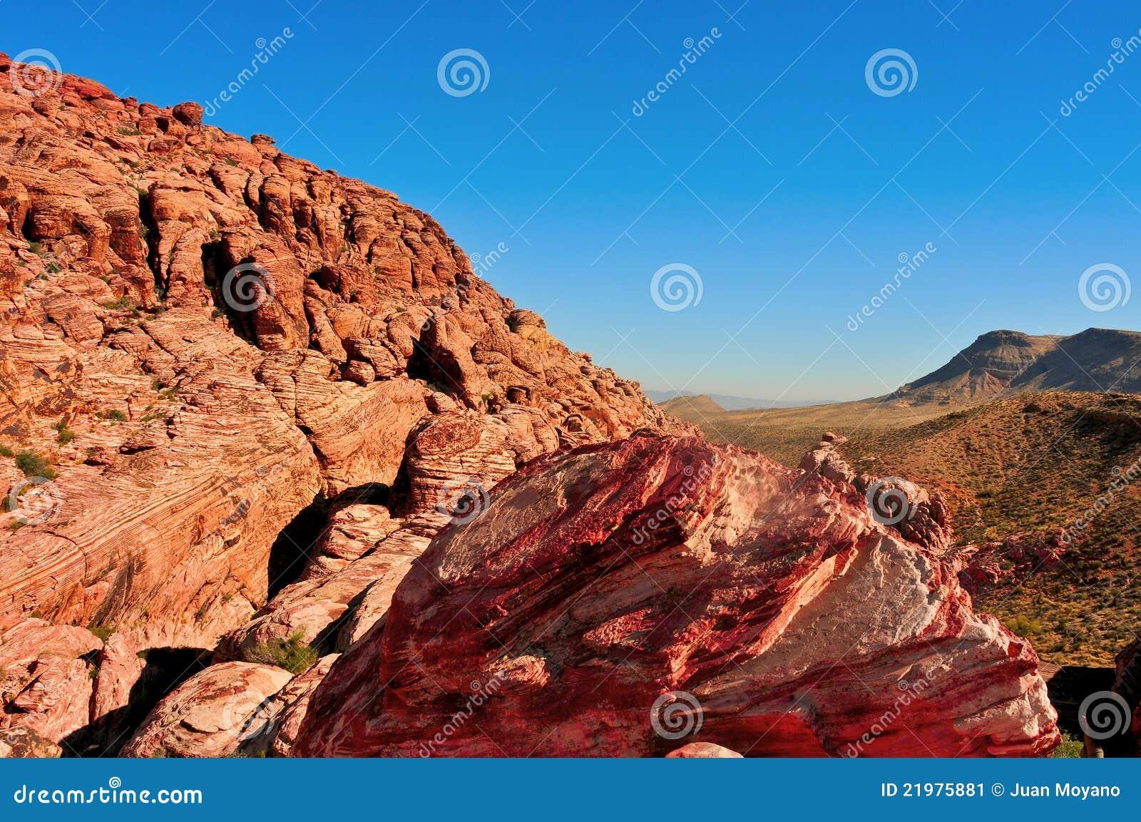 De rode Canion van de Rots, Nevada