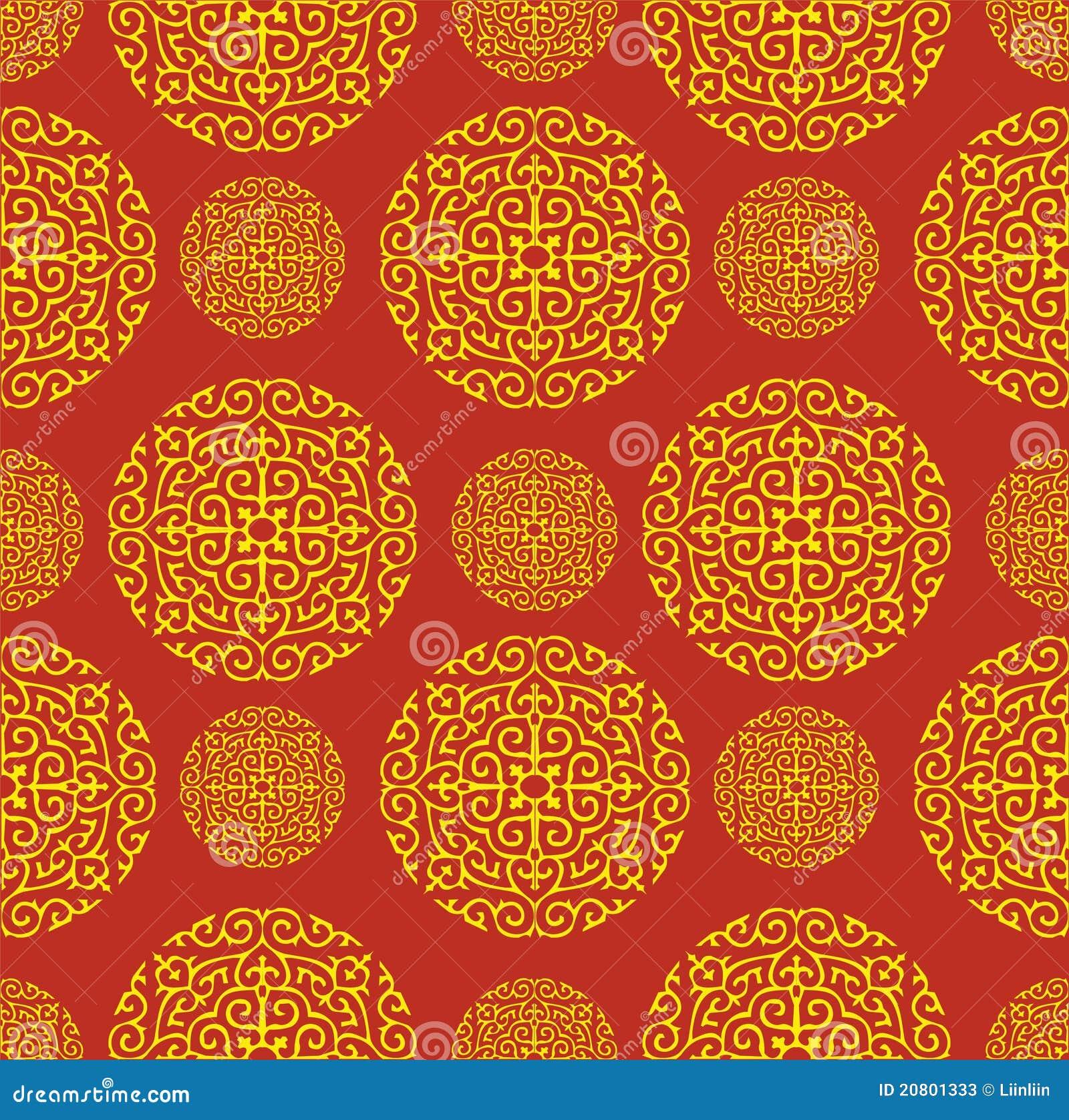 de rode chinese achtergrond van het patroon 20801333 - Behang Oosters