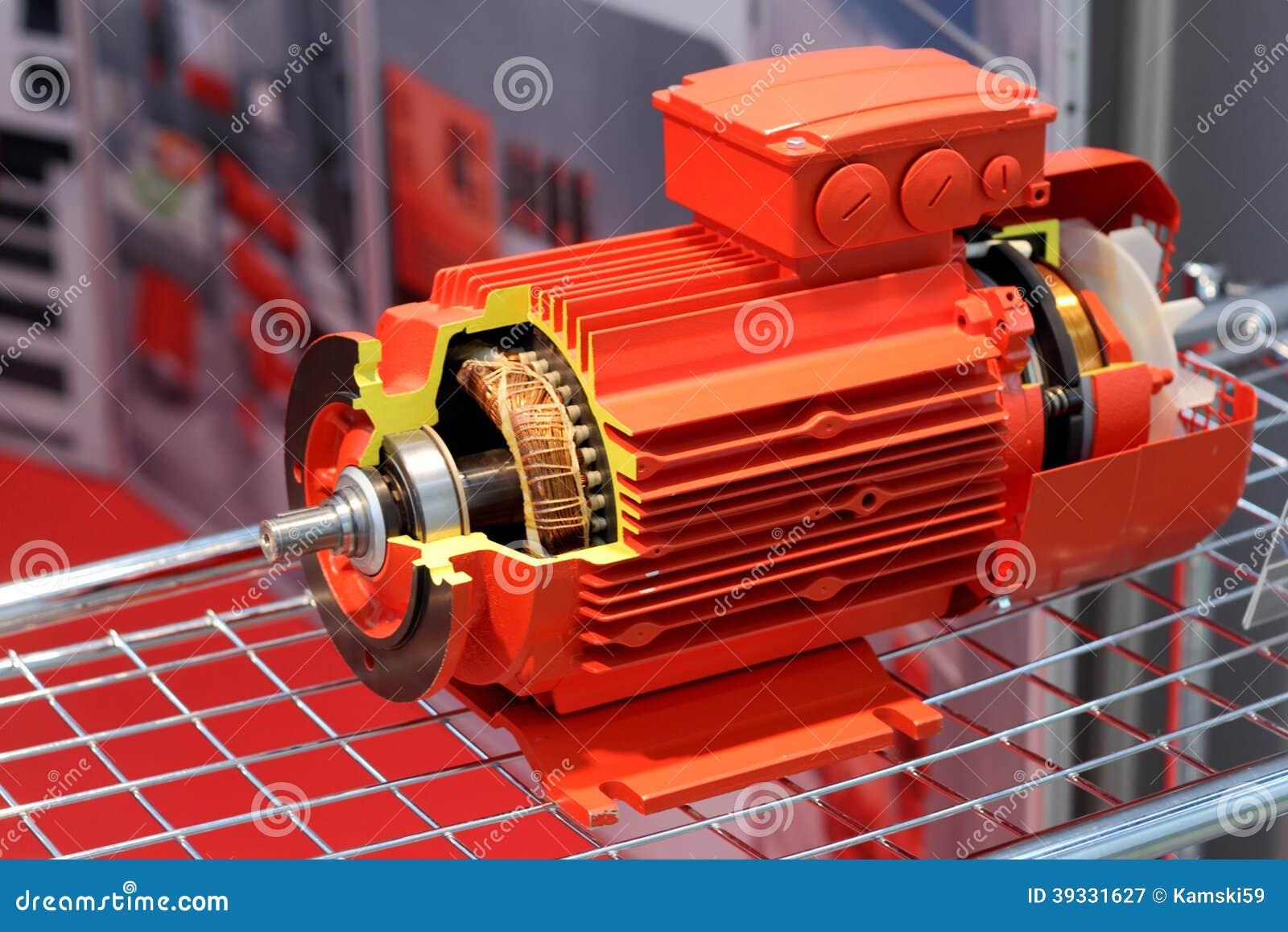 De rode elektrische motor