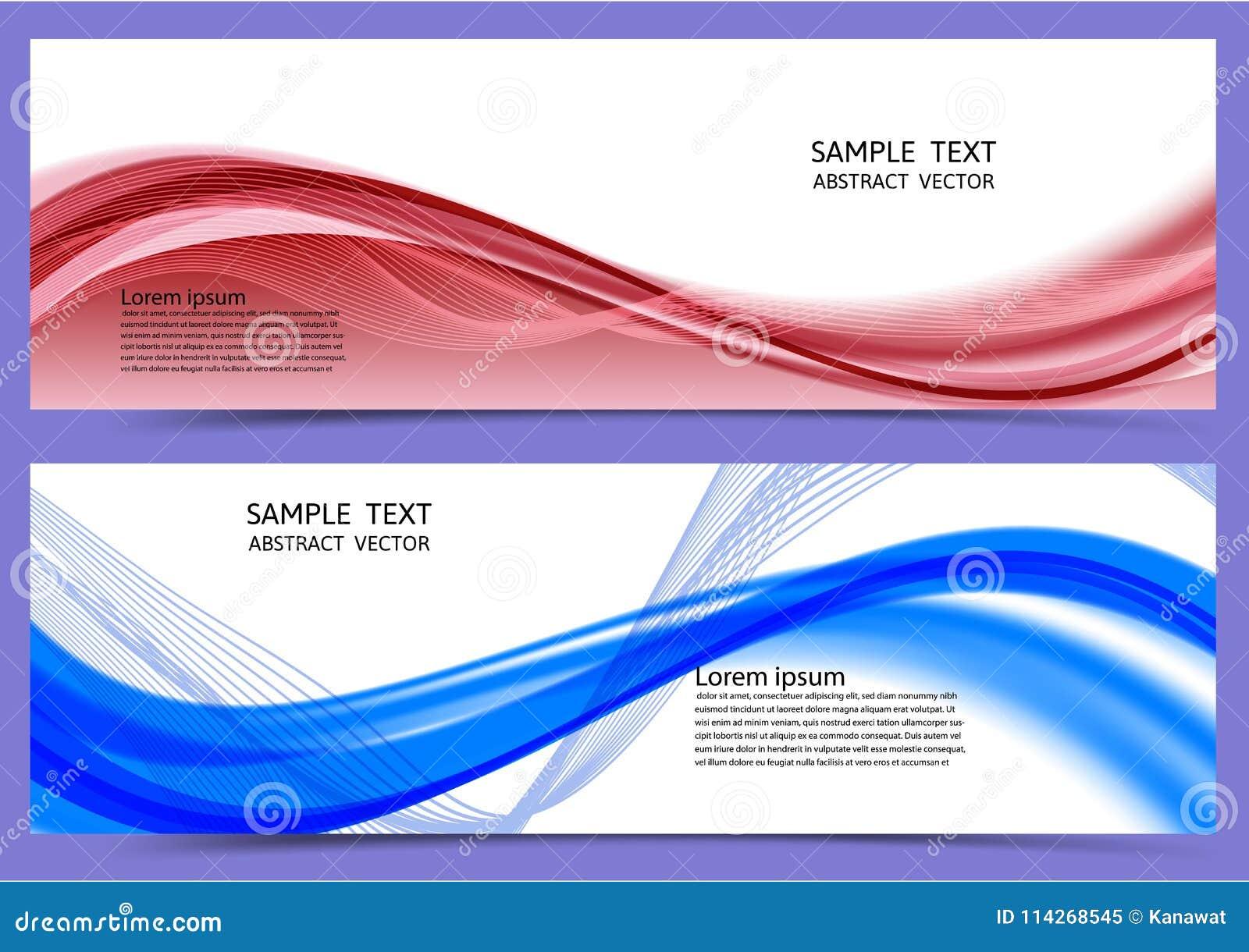 De rode en blauwe achtergrond van de kleuren geometrische abstracte banner met exemplaar ruimte, Vectorillustratie voor uw zaken