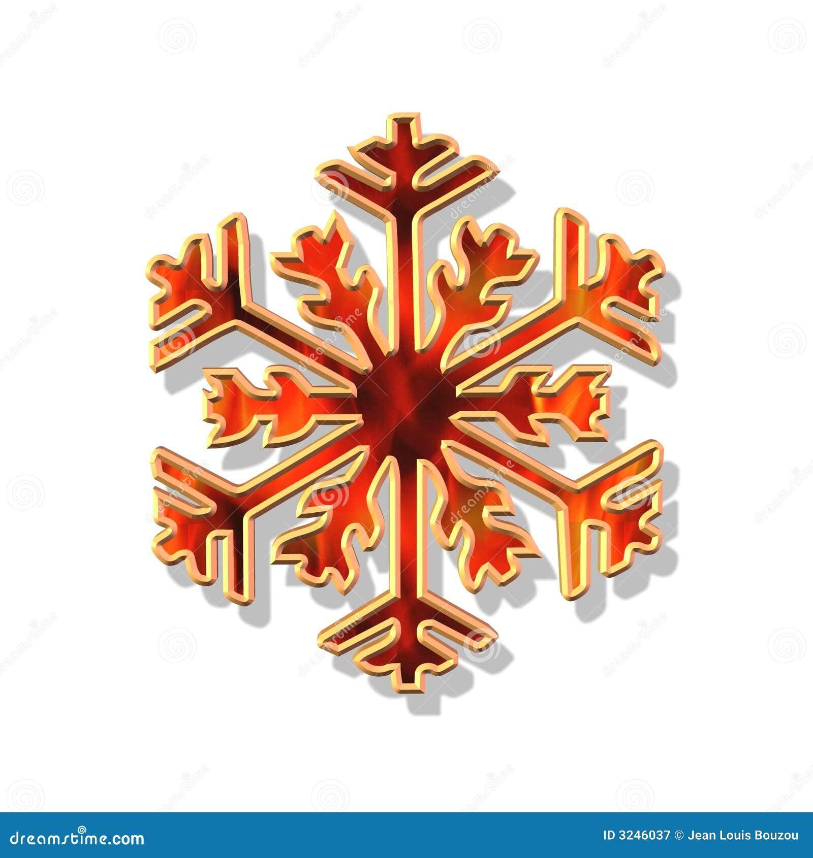 De rode en gouden vlok van Kerstmis