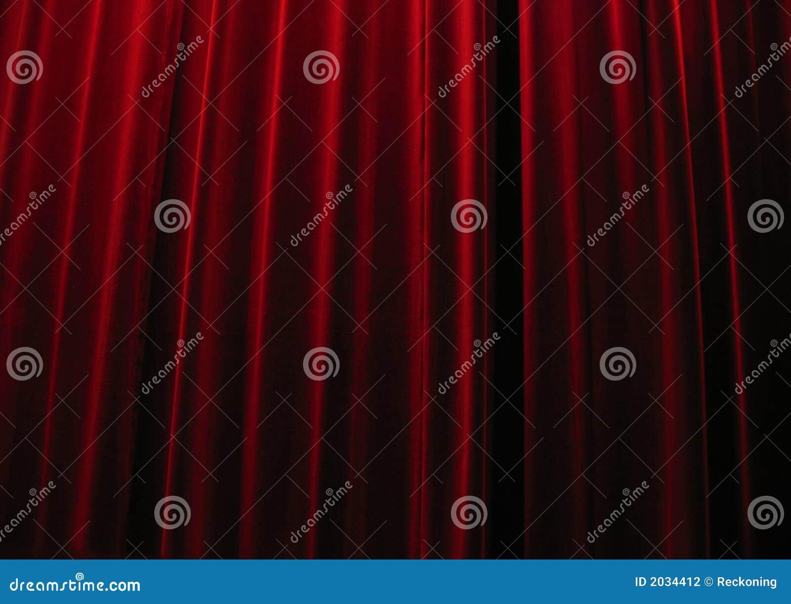 De rode gordijnen van het theater van het fluweel stock fotografie afbeelding 2034412 for Kubusgordijnen