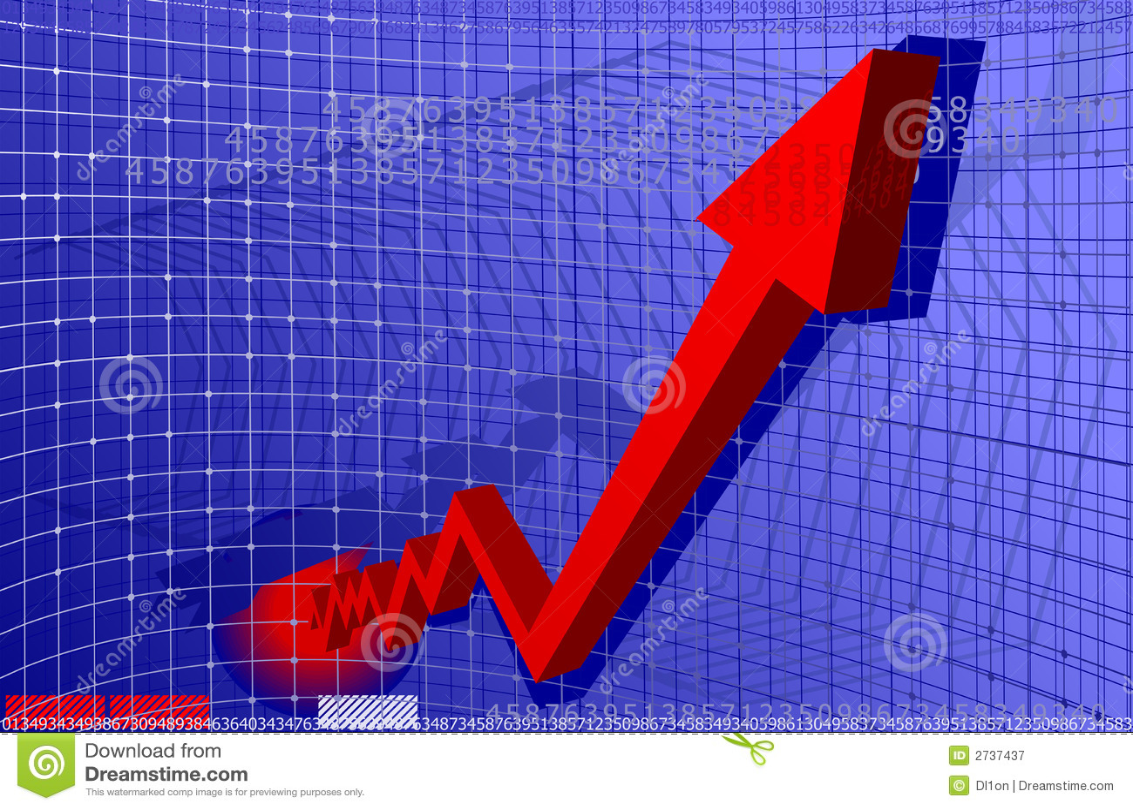 De rode Grafiek van de Pijl