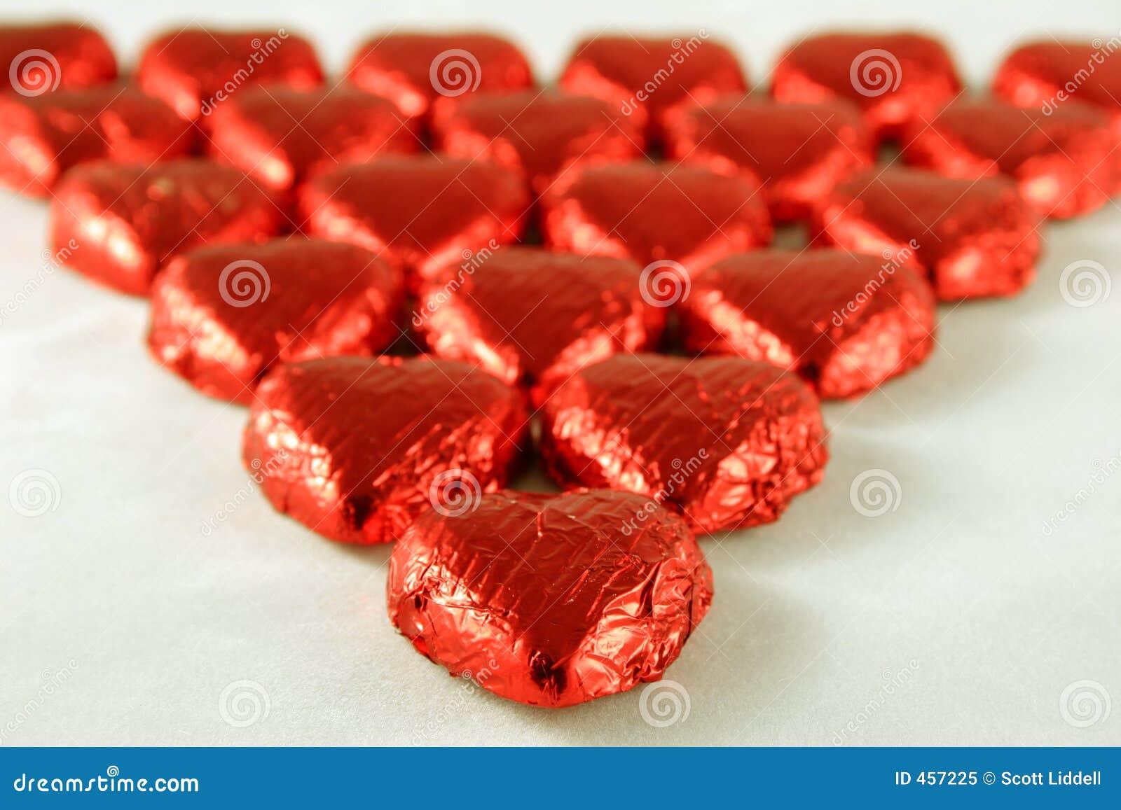 De rode Harten van de Chocolade
