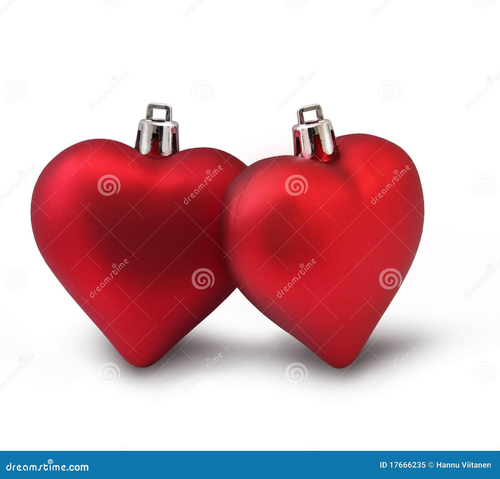 De rode harten van de Valentijnskaart