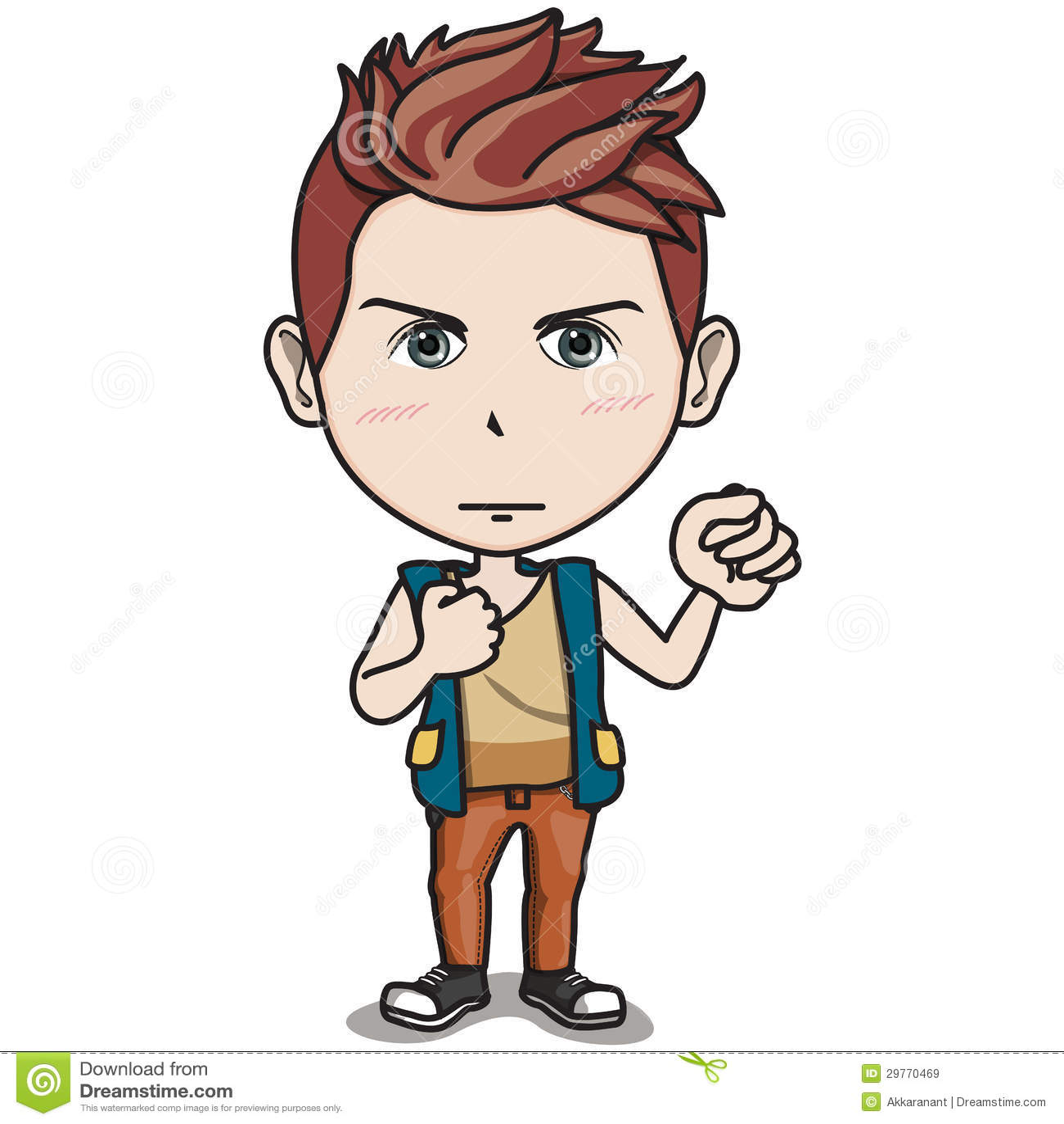 Het mannelijke karakter van de tiener de vuist van de greep omhoog in de lucht royalty vrije - Teen moderne ruimte van de jongen ...