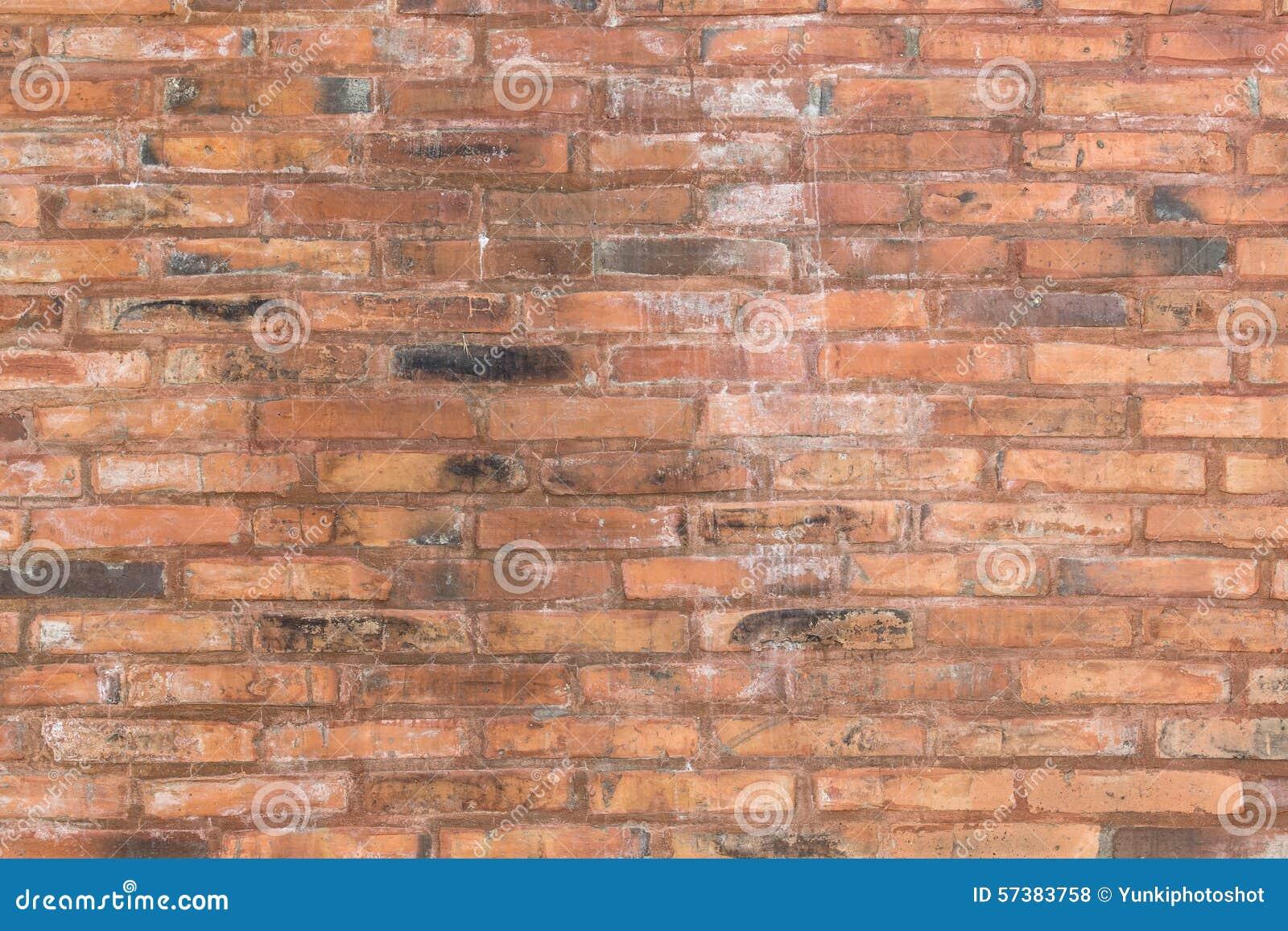 De rode oude achtergrond van de bakstenen muurtextuur voor mede binnenhuisarchitectuur