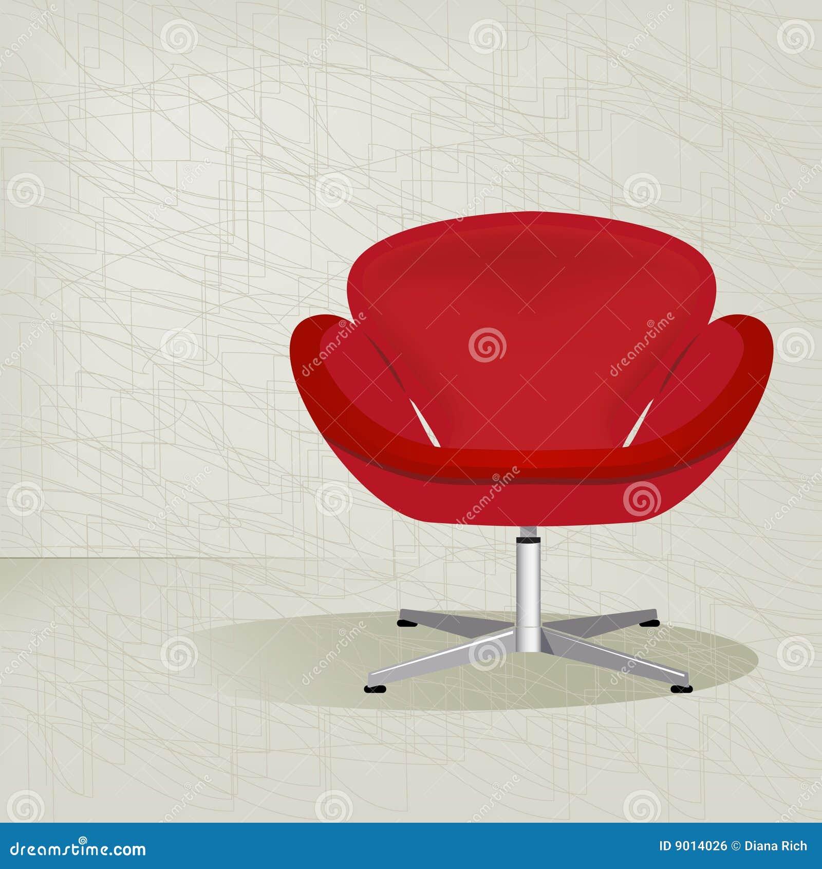 De rode retro stoel van jaren 39 50 royalty vrije stock afbeelding beeld 9014026 - Stoel rode huis van de wereld ...