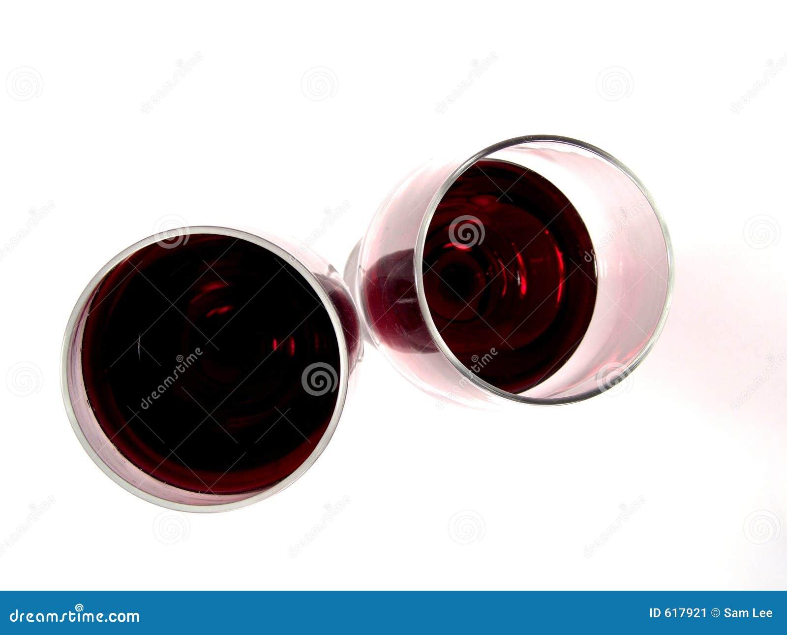 De Rode Wijn van twee Glazen