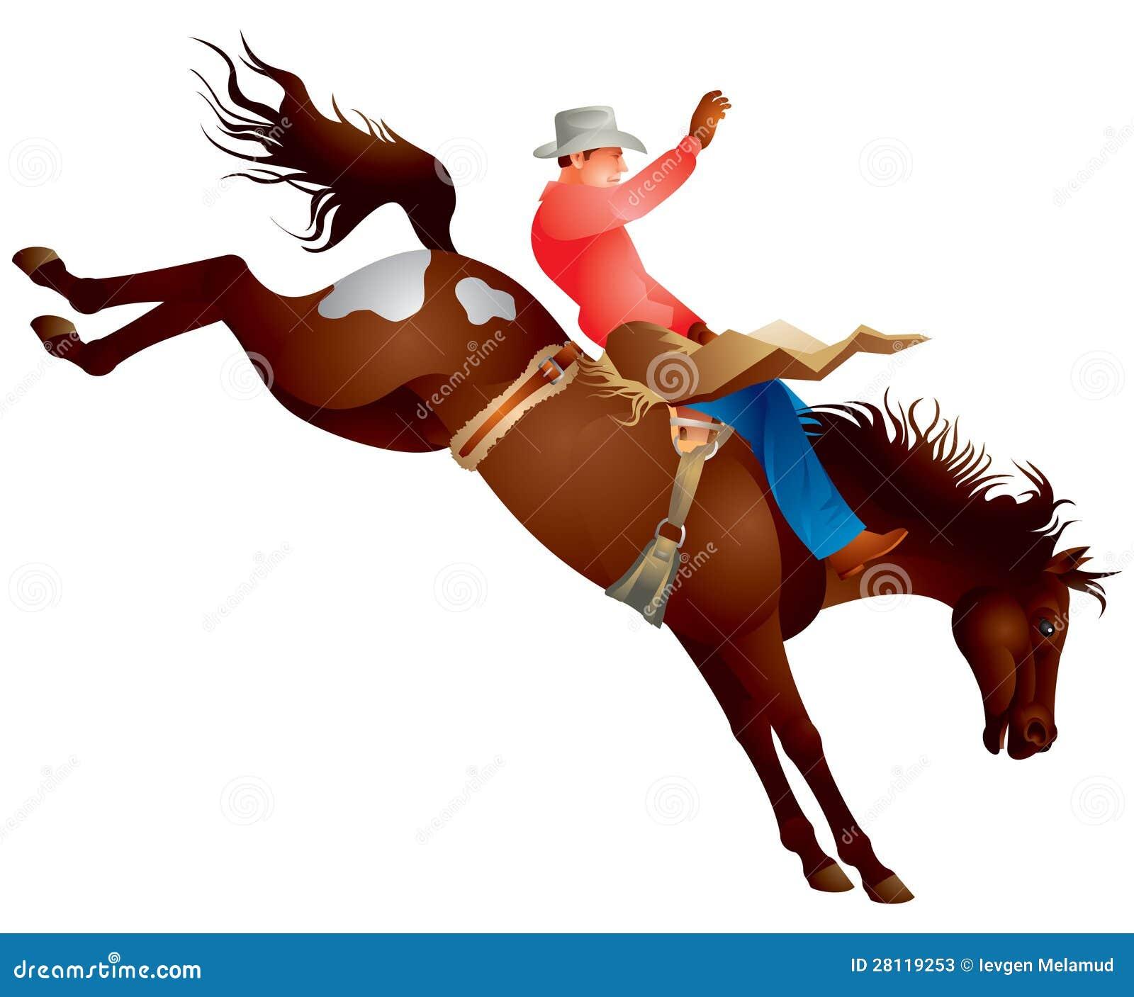 De rodeopaard van de cowboy