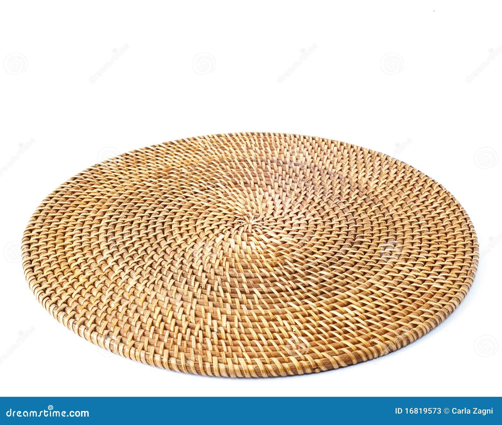 De ronde van de rotan placemat stock foto 39 s afbeelding 16819573 - Rotan stoel van de wereld ...