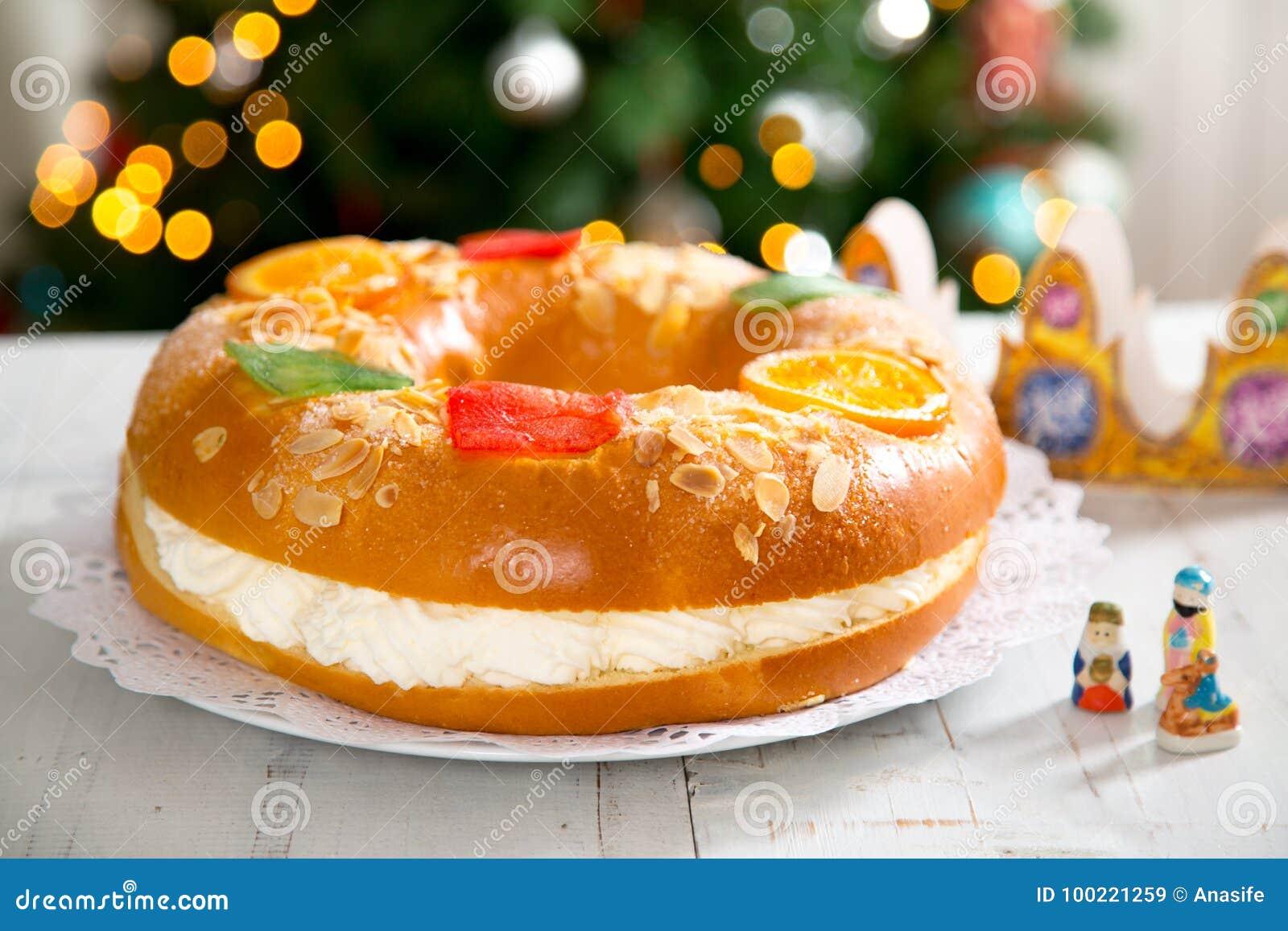 ` De Roscon de Reyes do `, sobremesa típica do espanhol do esmagamento