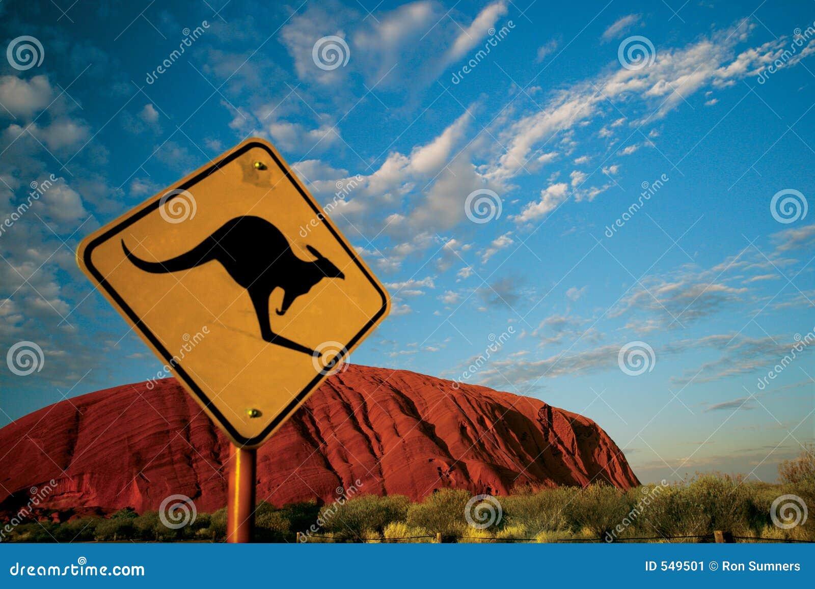 De Rots van Ayers van de kangoeroe