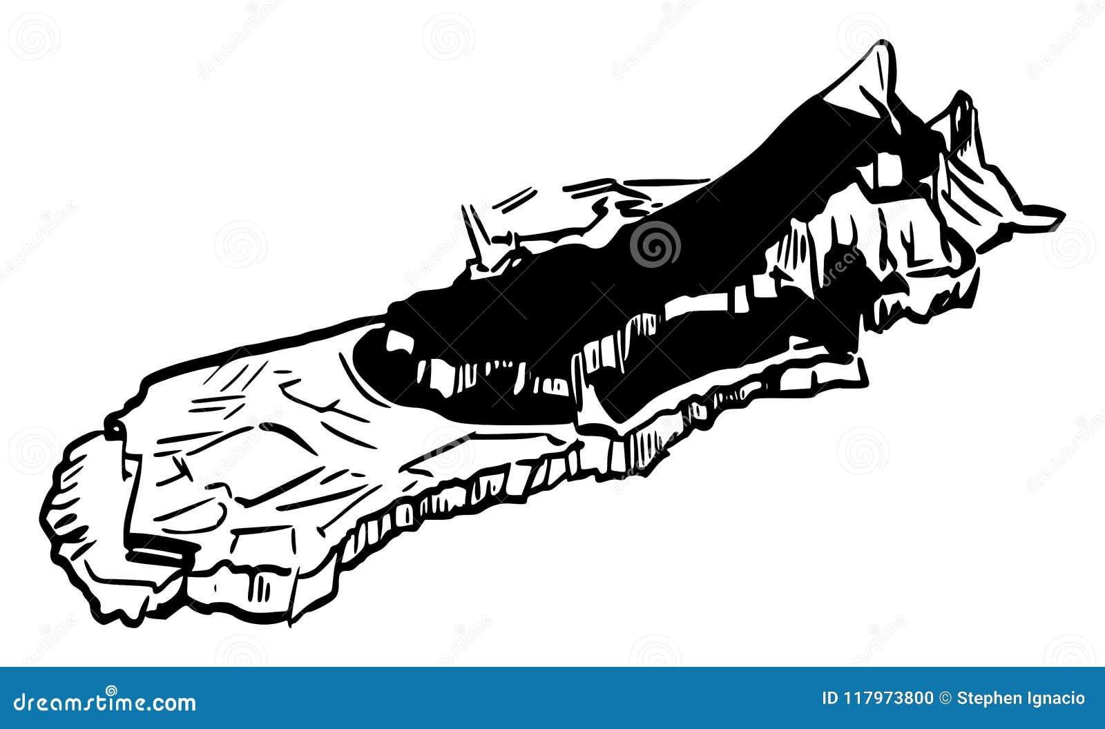 De Rots van Gibraltar van Zuidoosten
