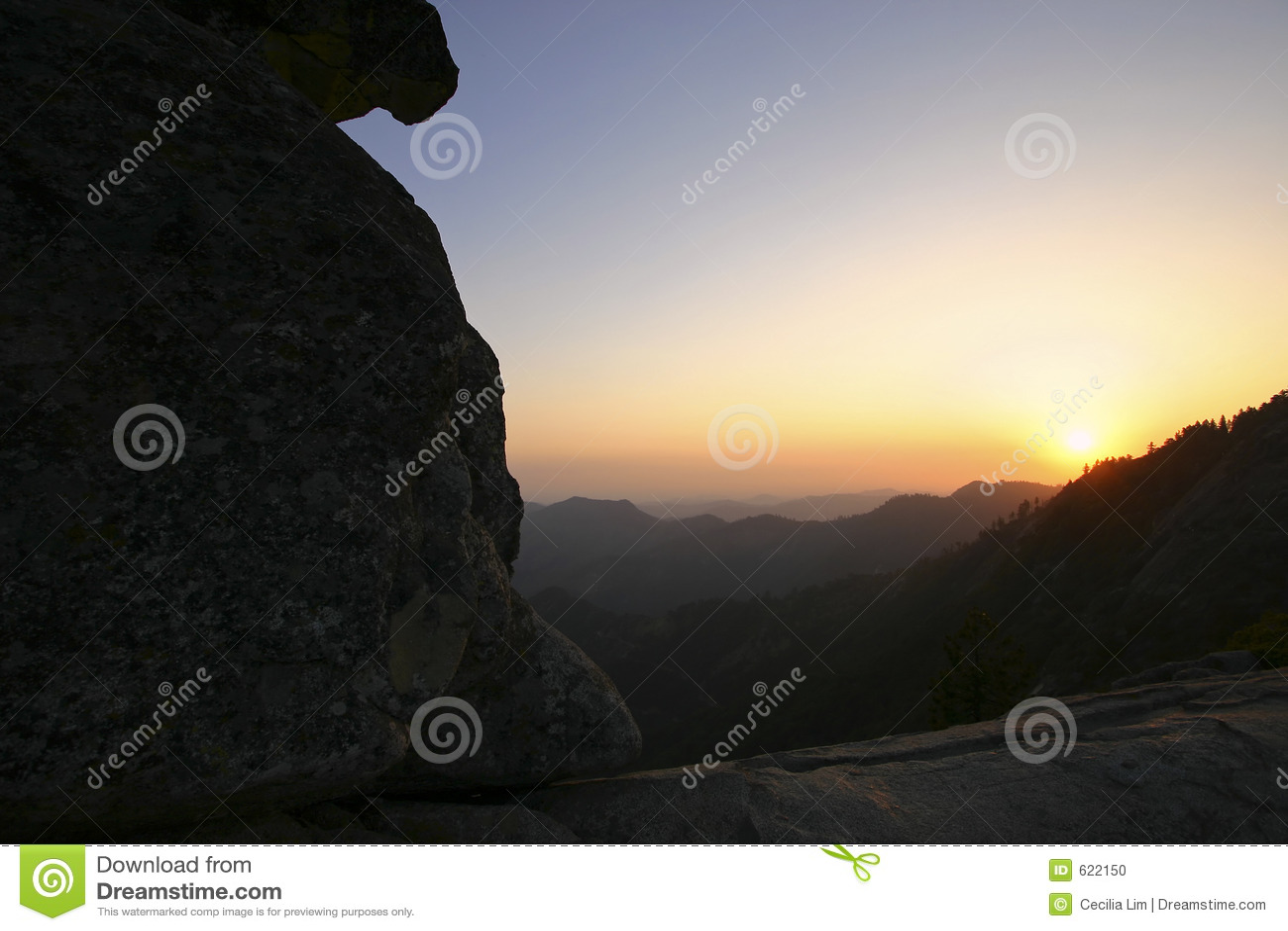 De Rots van Moro, het Nationale Park van de Canion van Koningen