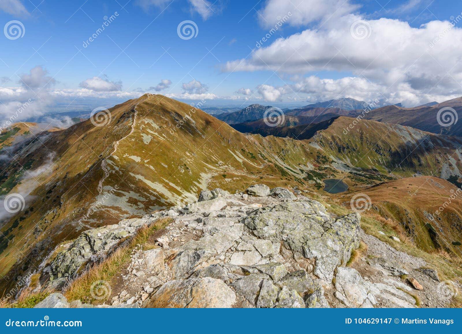 Download De Rotsachtige Mening Van Het Berg Piekgebied In Slowakije Stock Afbeelding - Afbeelding bestaande uit rotsen, land: 104629147