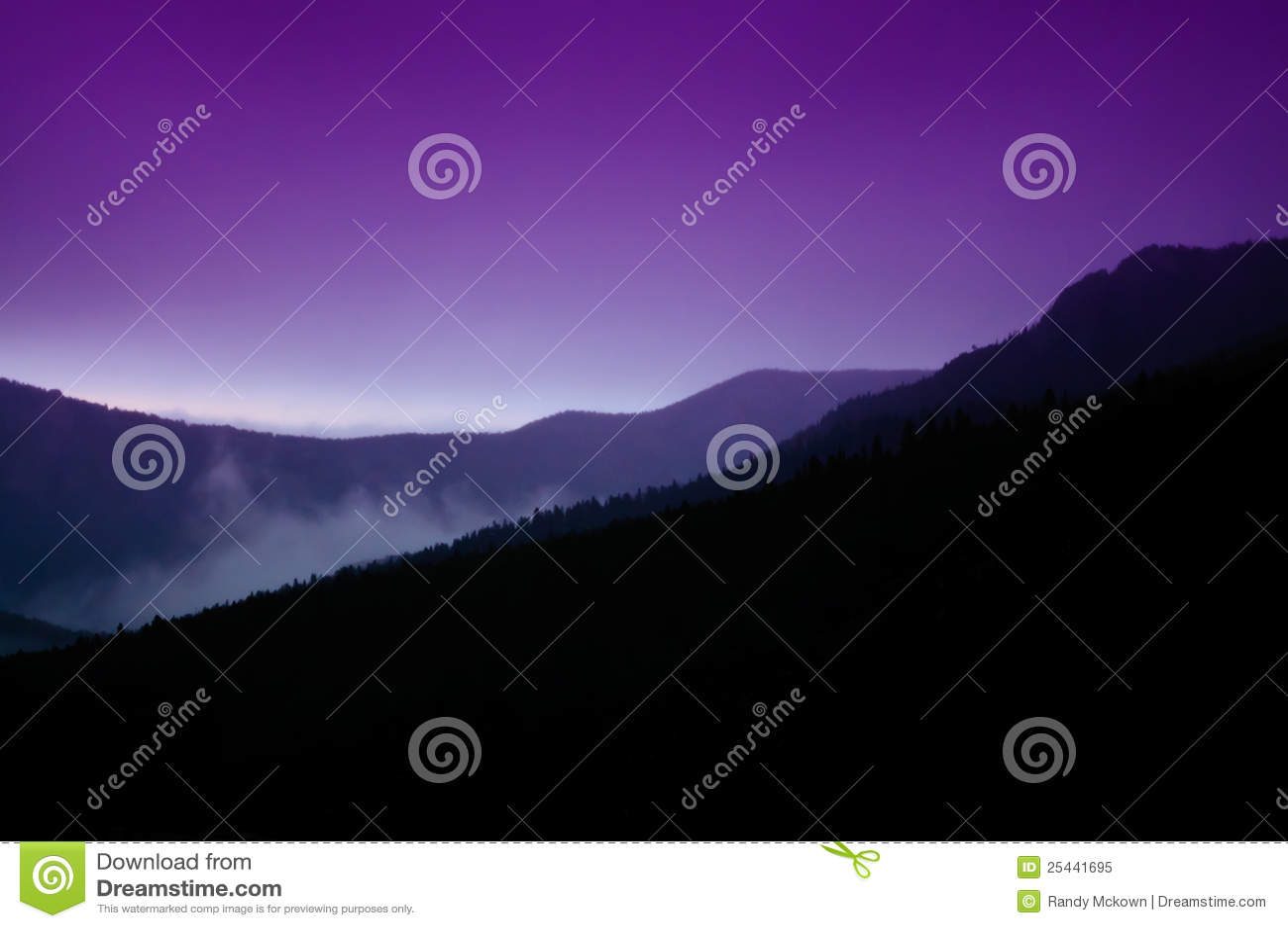 De rotsachtige Zonsondergang van Colorado van de Berg