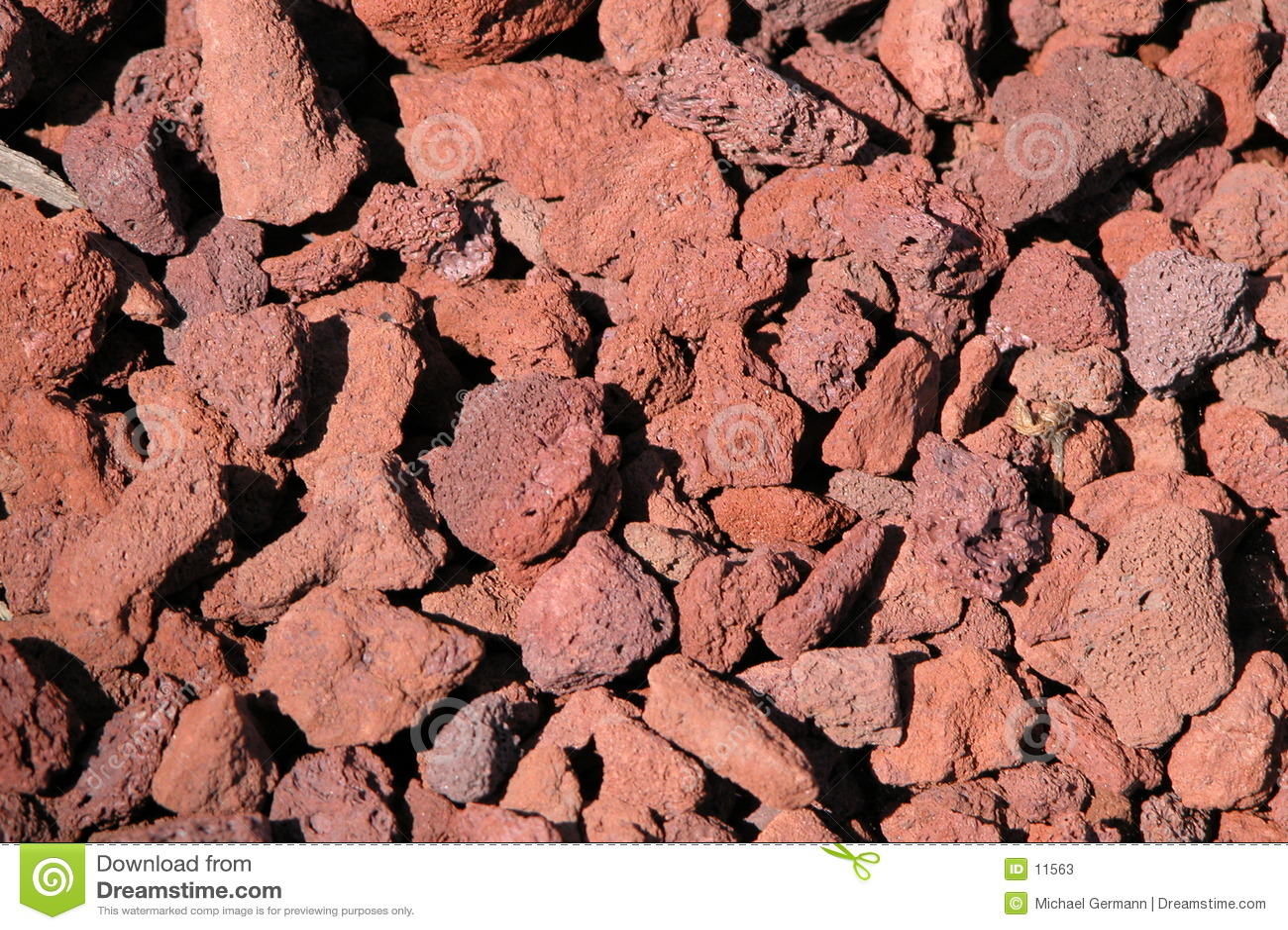 De Rotsen van de lava