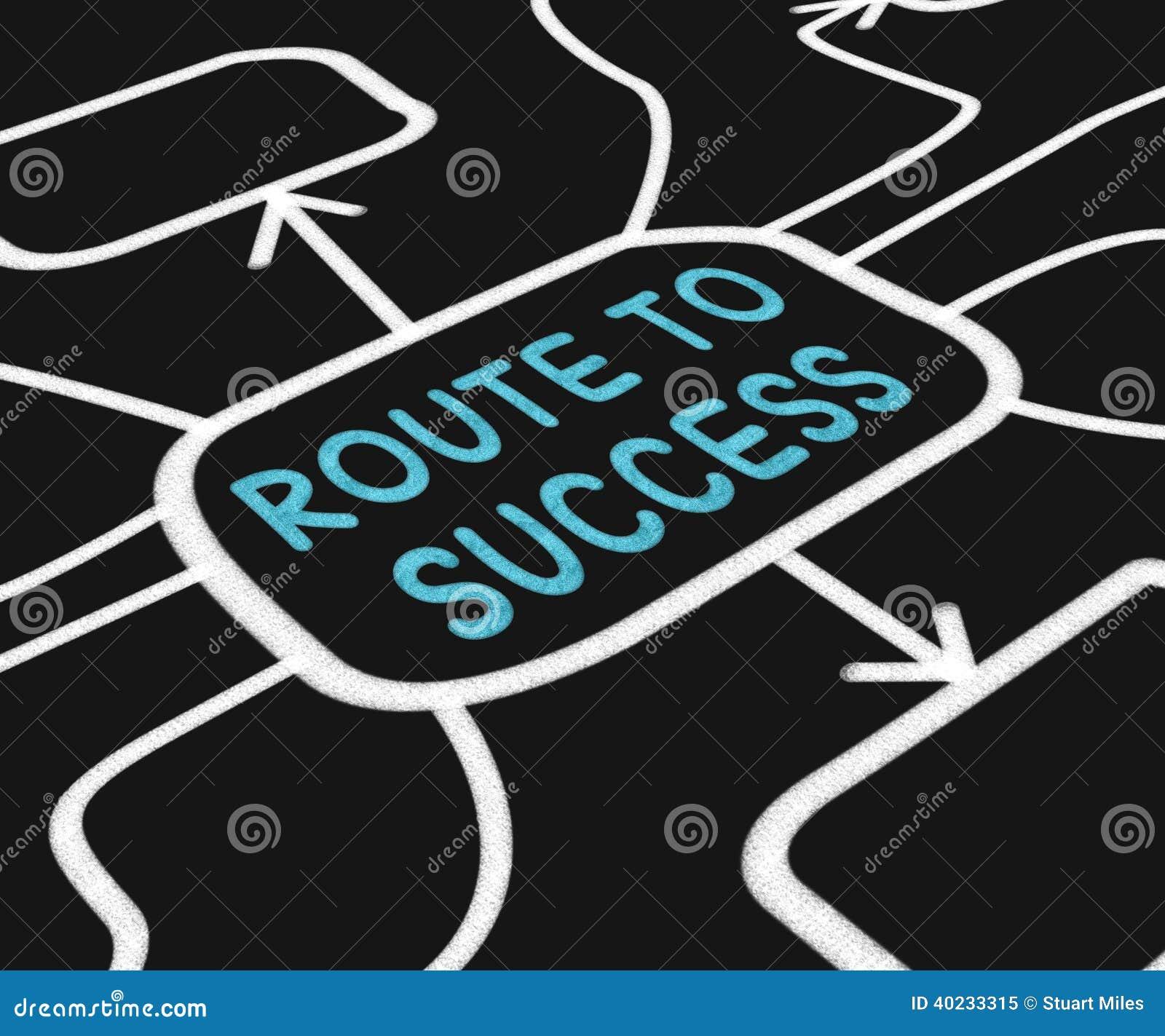De route aan Succesdiagram toont Weg voor