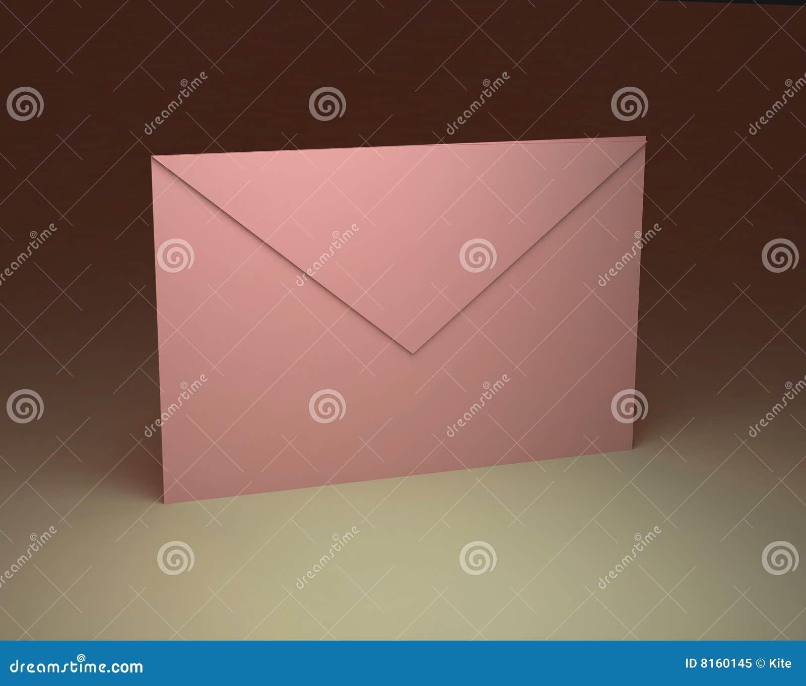 De roze envelop van het document
