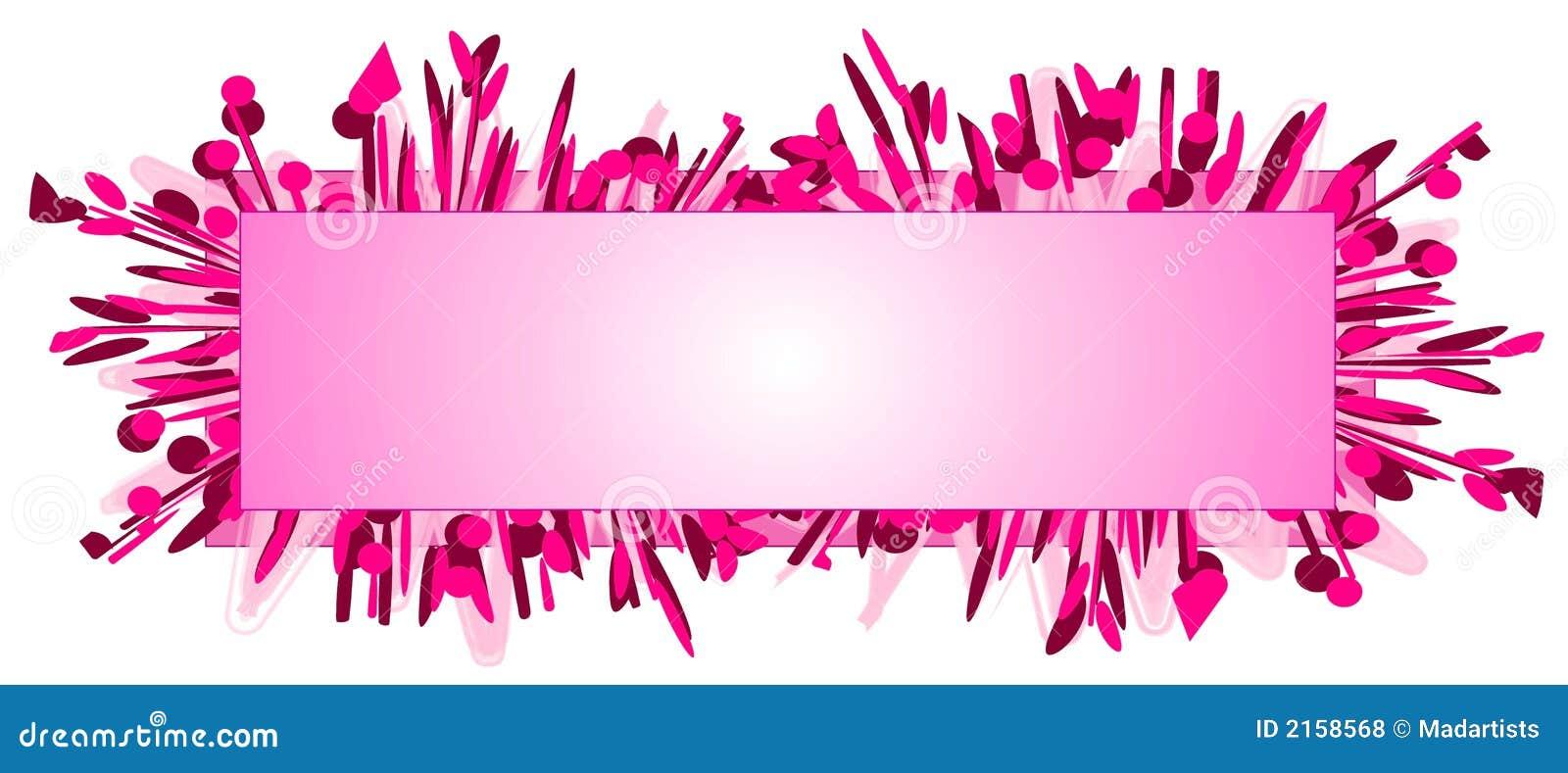 De Roze Manier van het Embleem van de Web-pagina
