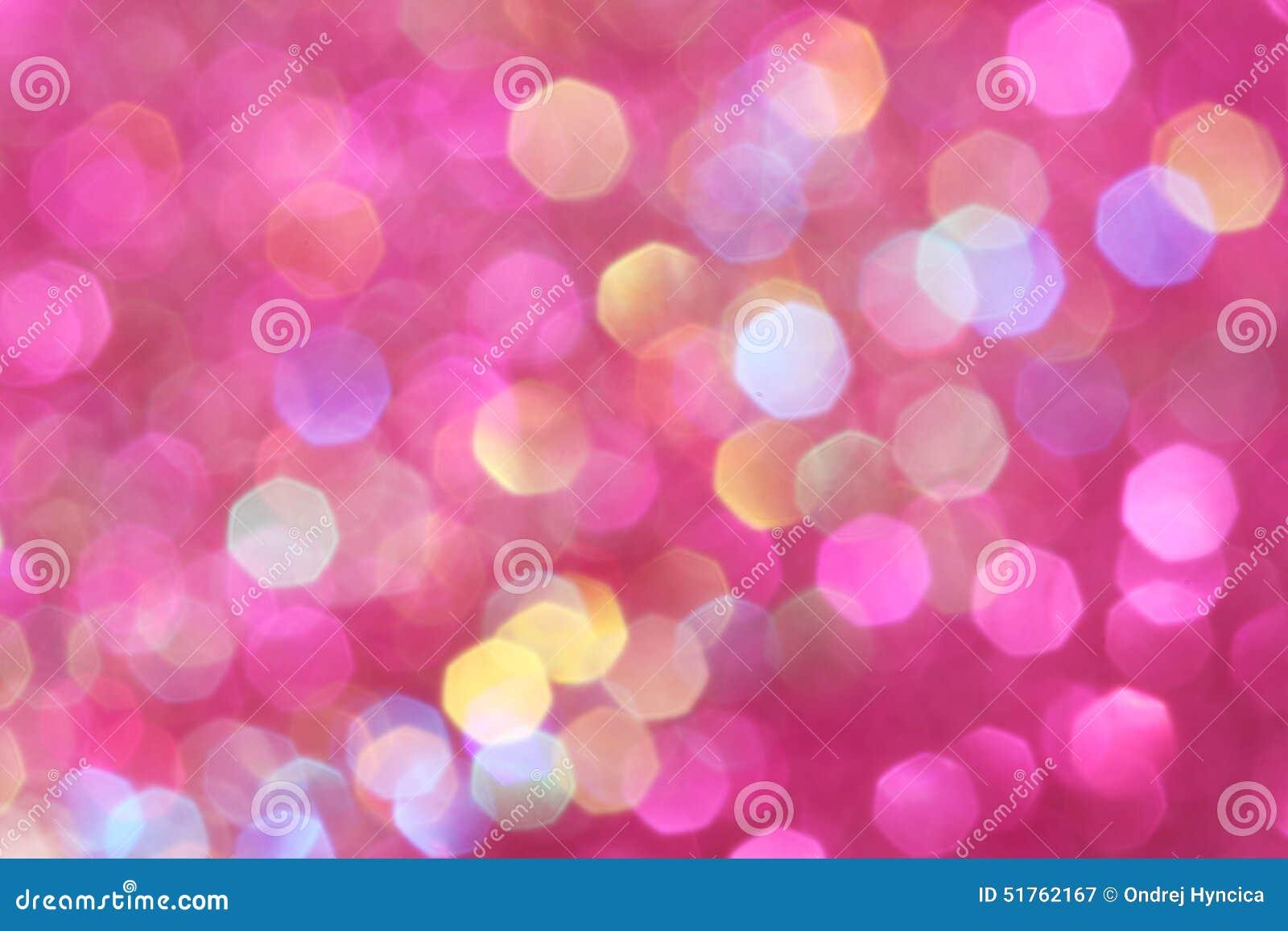 De roze, purpere, witte, gele en turkooise zachte lichten vatten achtergrond samen