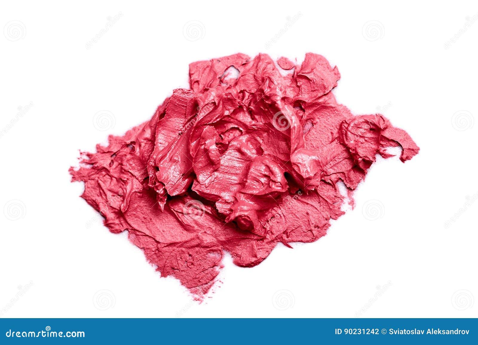 De roze Steekproef van de roomlippenstift