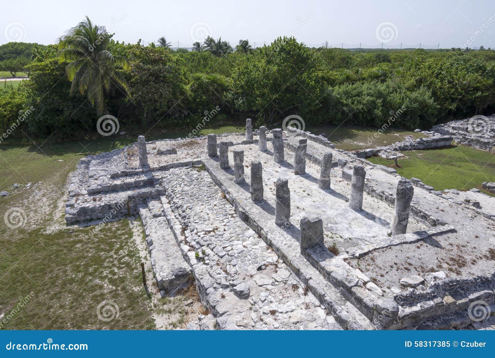 De ruïnes van Gr Rey in Cancun