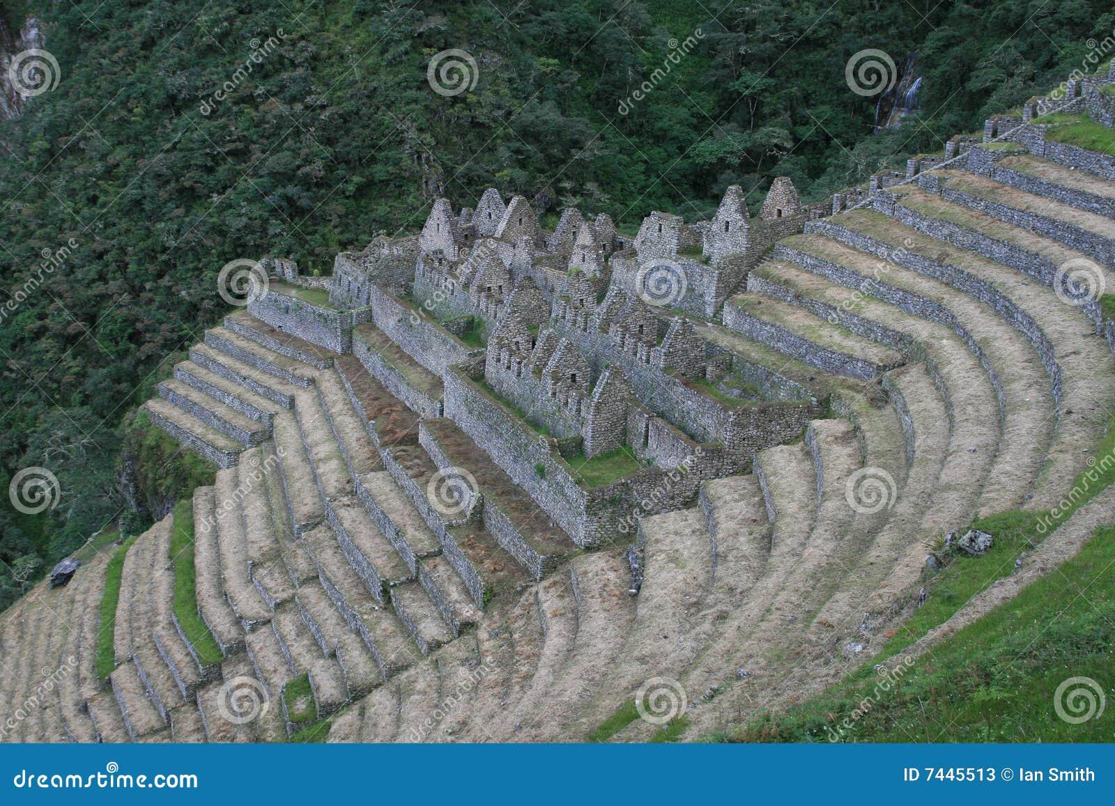De Ruïnes van Inca van Winawayna