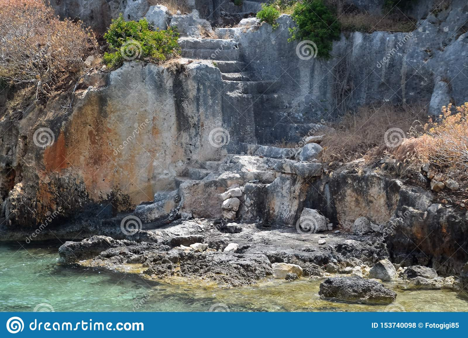De ruïnes van de stad van Mira, Kekova