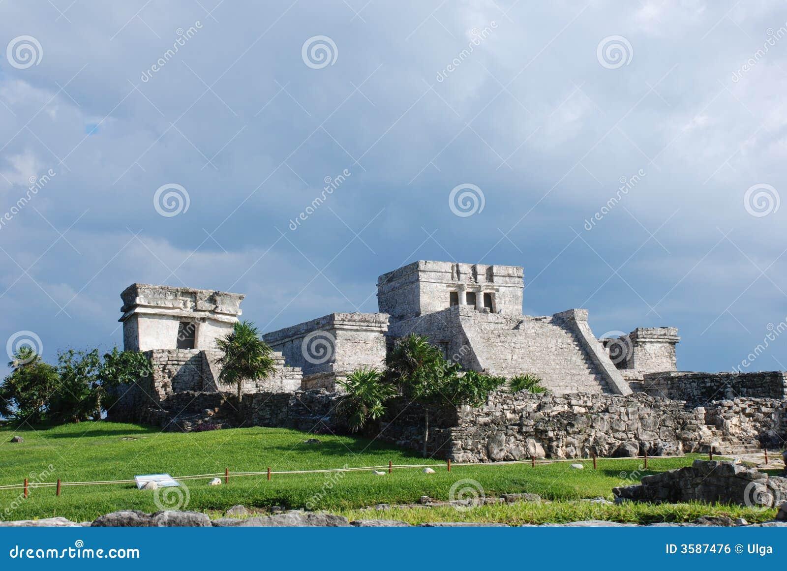 De ruïnes van Tulum in Mexico
