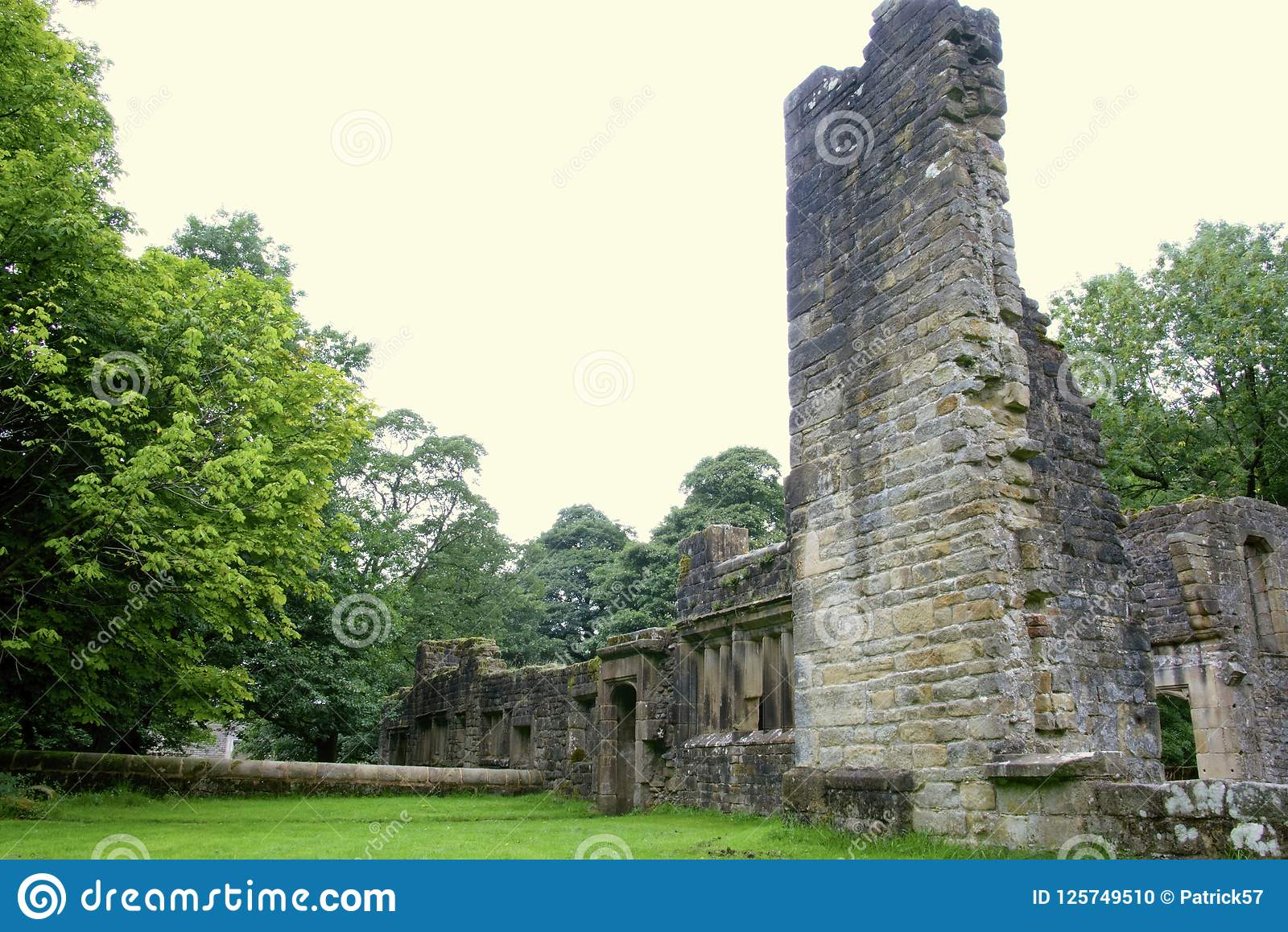 De ruïnes van Wycoller-zaal