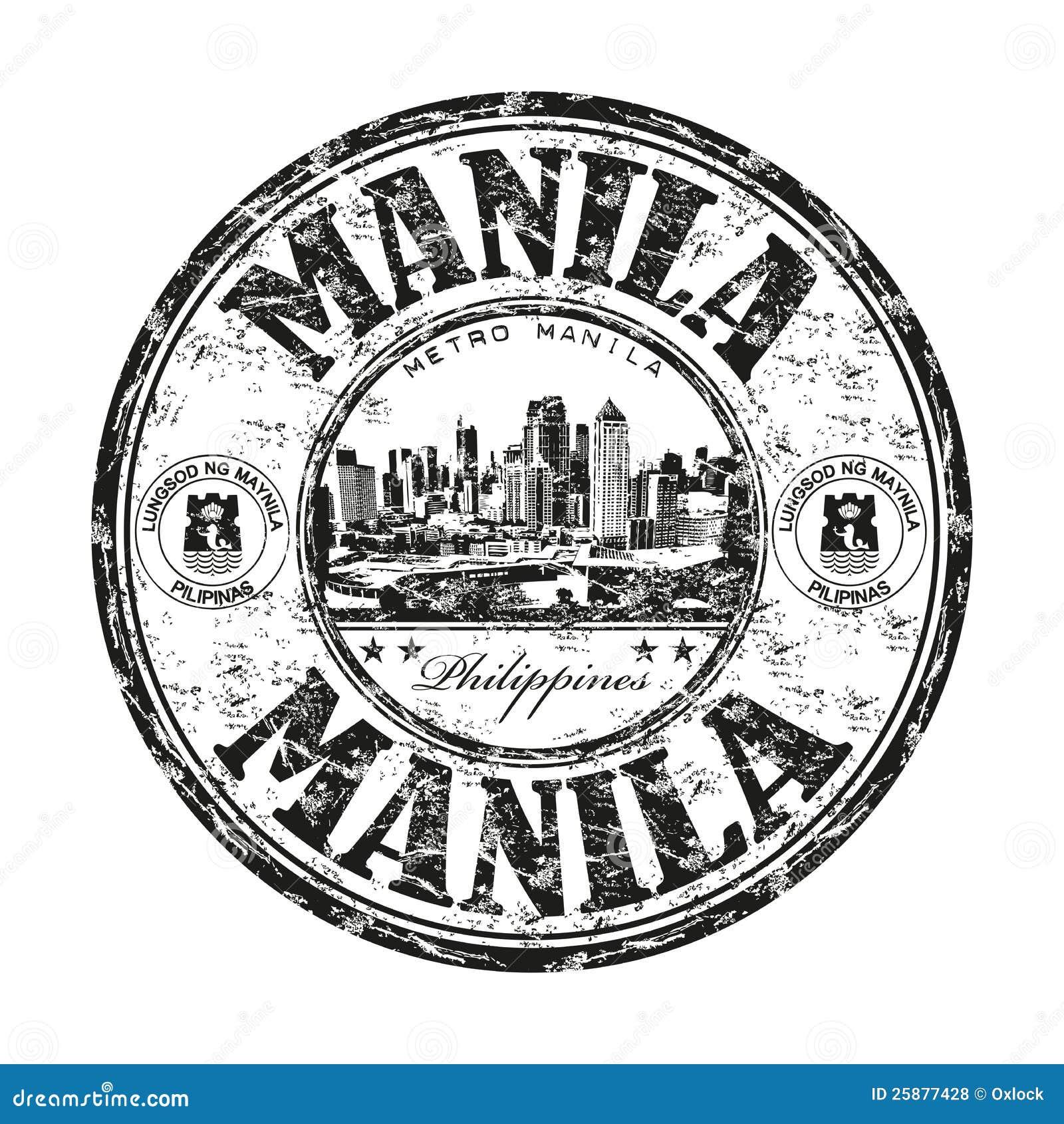 De rubberzegel van Manilla grunge