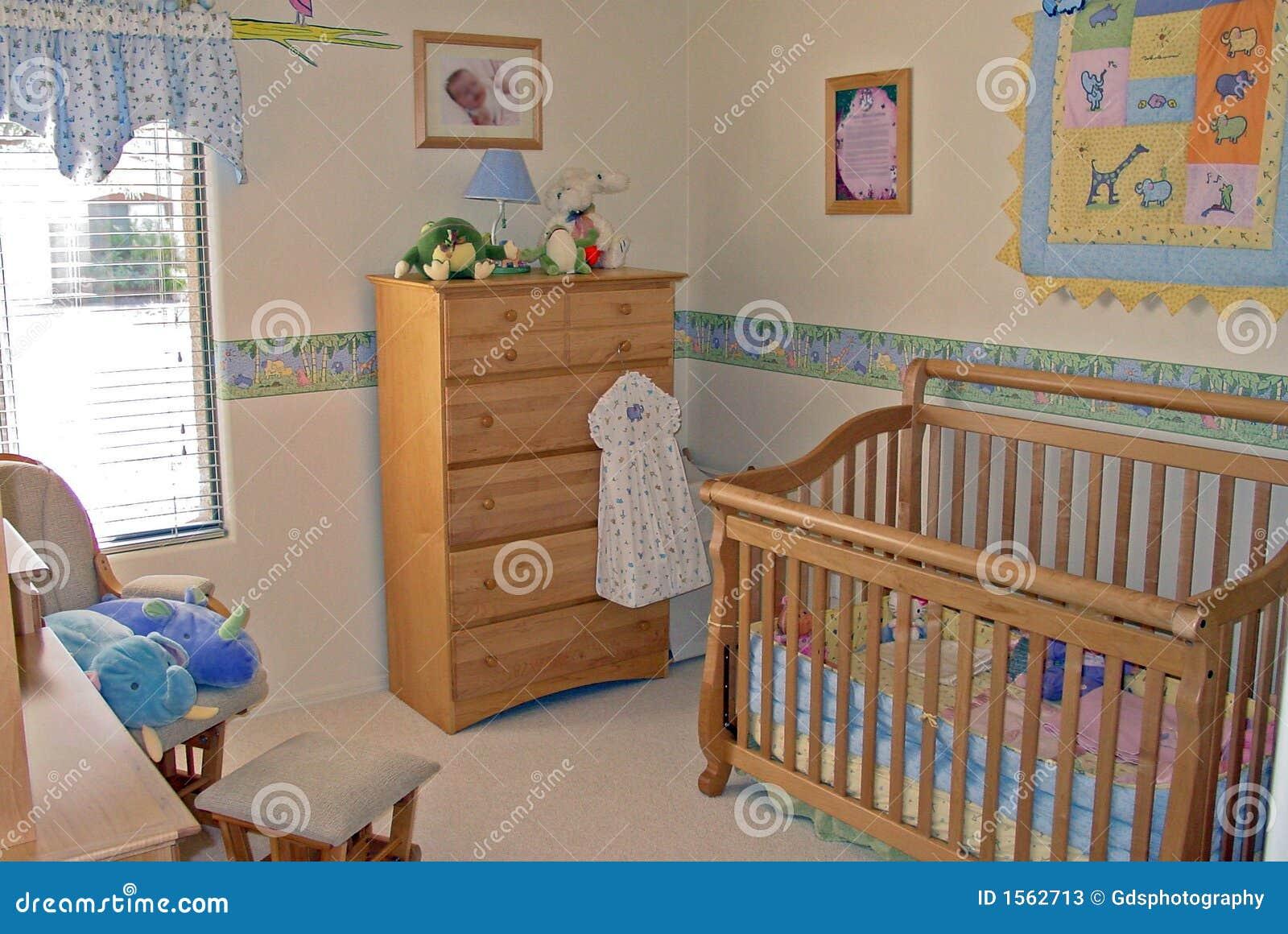 Slaapkamer Voor Baby.De Ruimte Van De Baby Van De Slaapkamer Stock Afbeelding