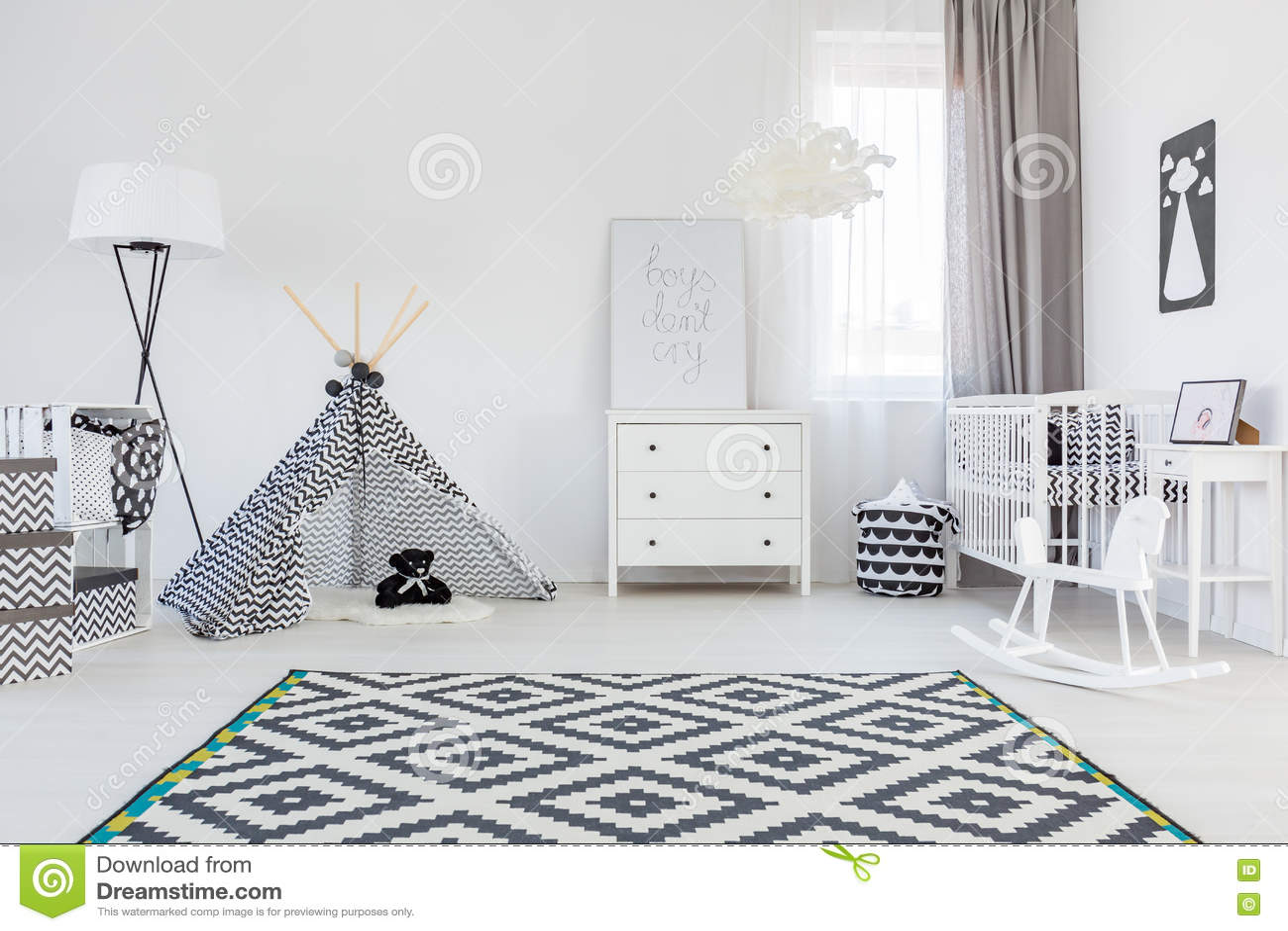 De ruimte van de babyjongen met tent