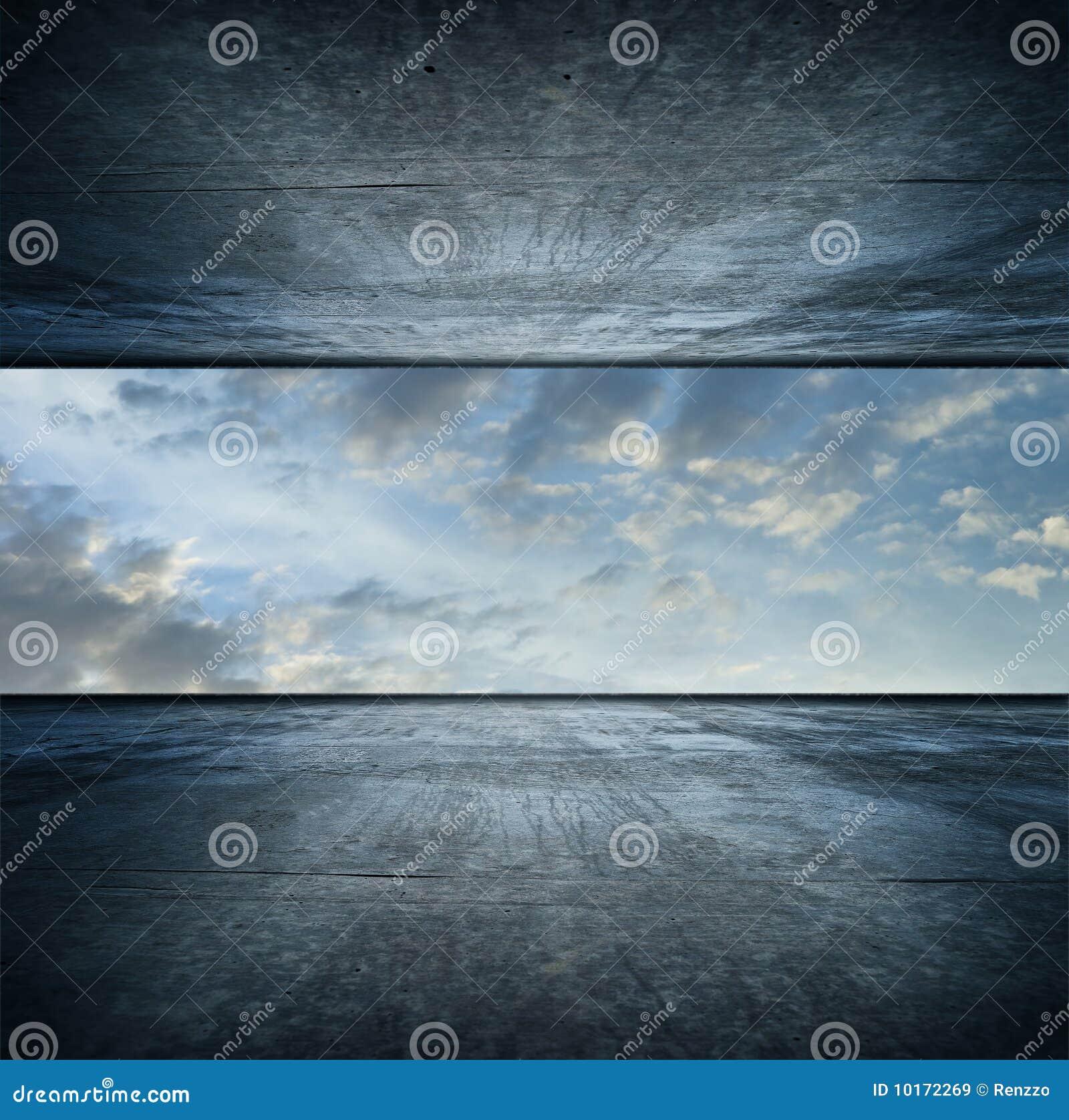 De ruimte van de hemel. vierkante versie