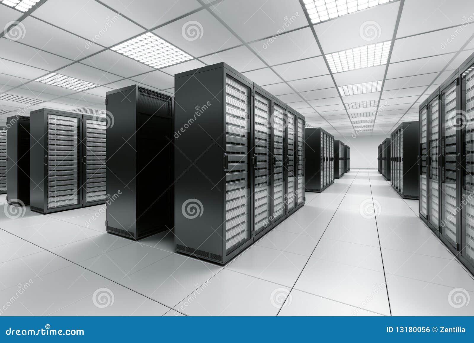 De ruimte van de server
