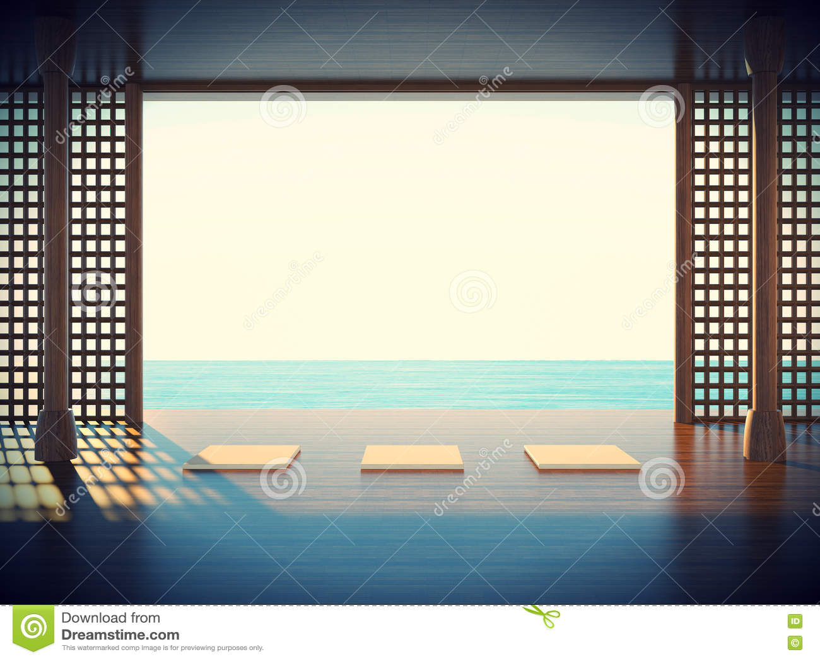 De ruimte van de Zenyoga in de kustgebiedenruimte