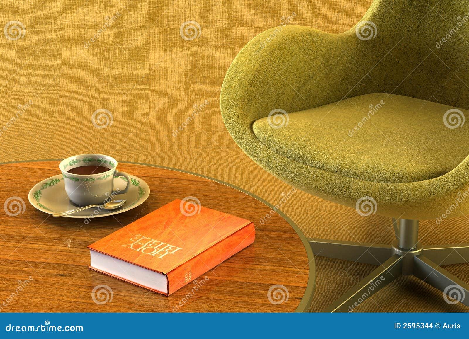 De ruimte van de zitkamer met lijst en slab