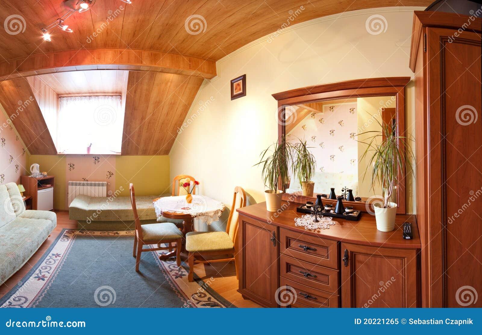 De ruimte van de zolder